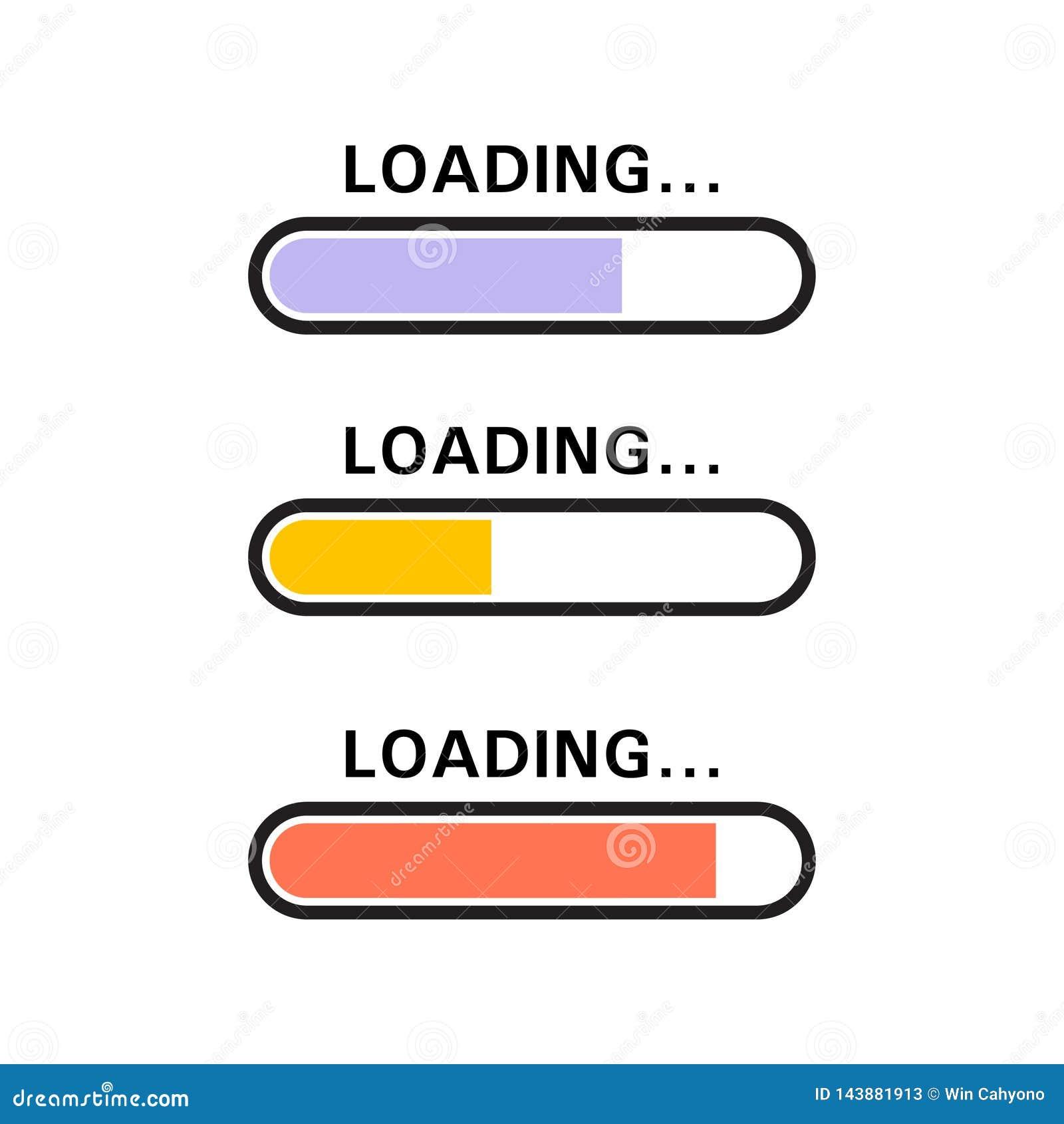Ícone de carregamento na cor azul, amarela, vermelha