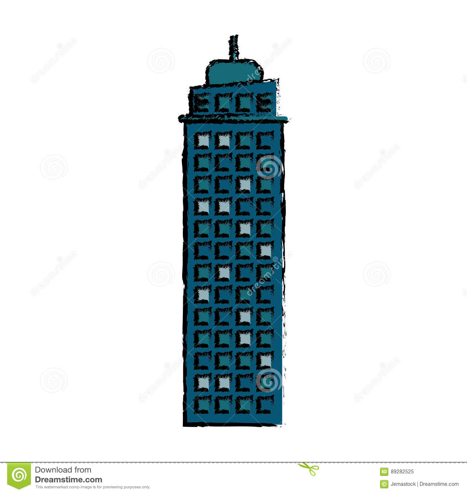 ícone de construção da fachada dos bens imobiliários