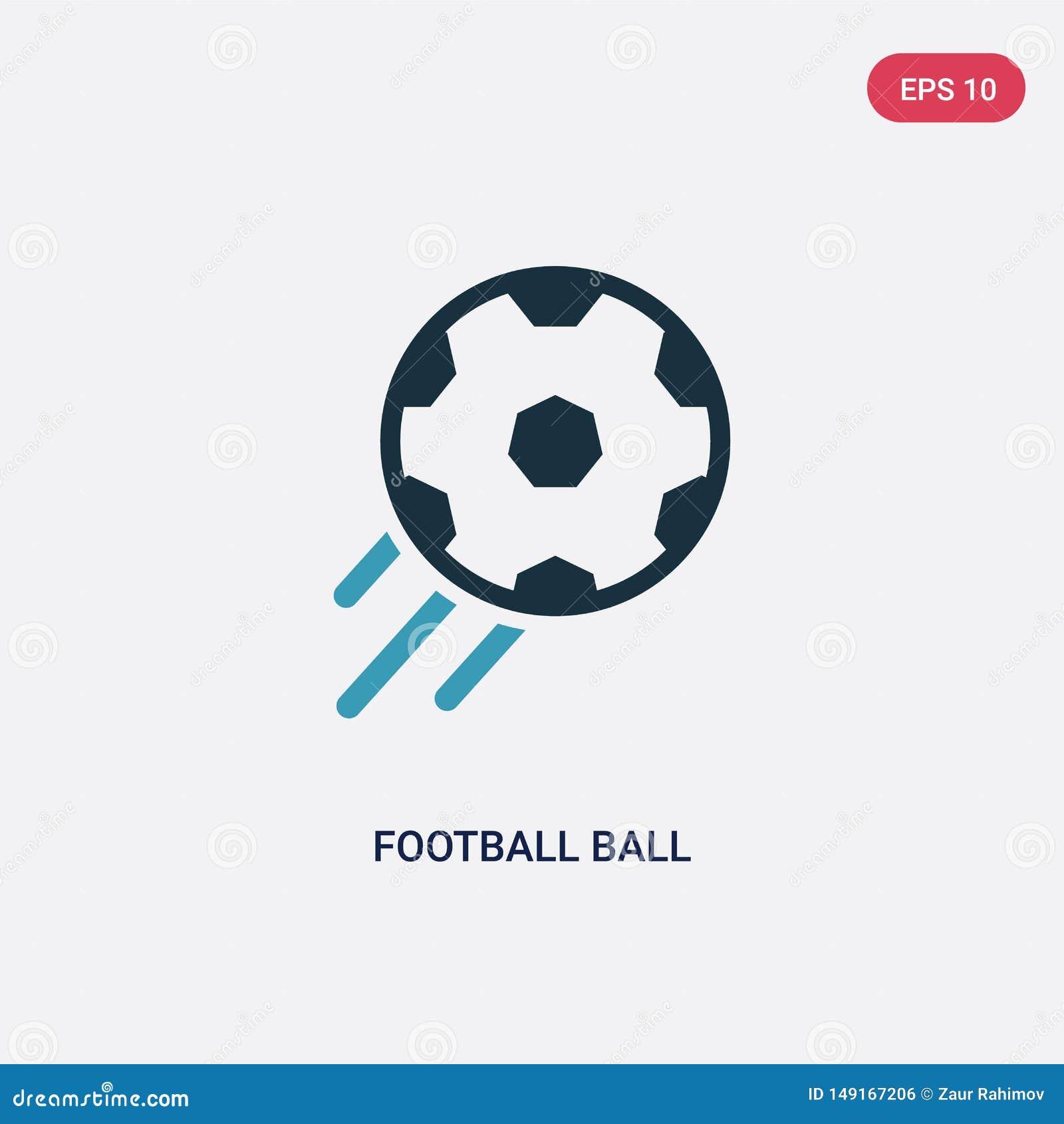 ?cone de duas cores do vetor da bola do futebol do conceito dos esportes o s?mbolo azul isolado do sinal do vetor da bola do fute