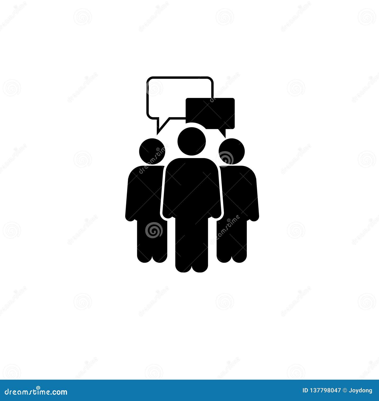 Ícone de fala dos povos Um de ícones ajustados do vetor da Web