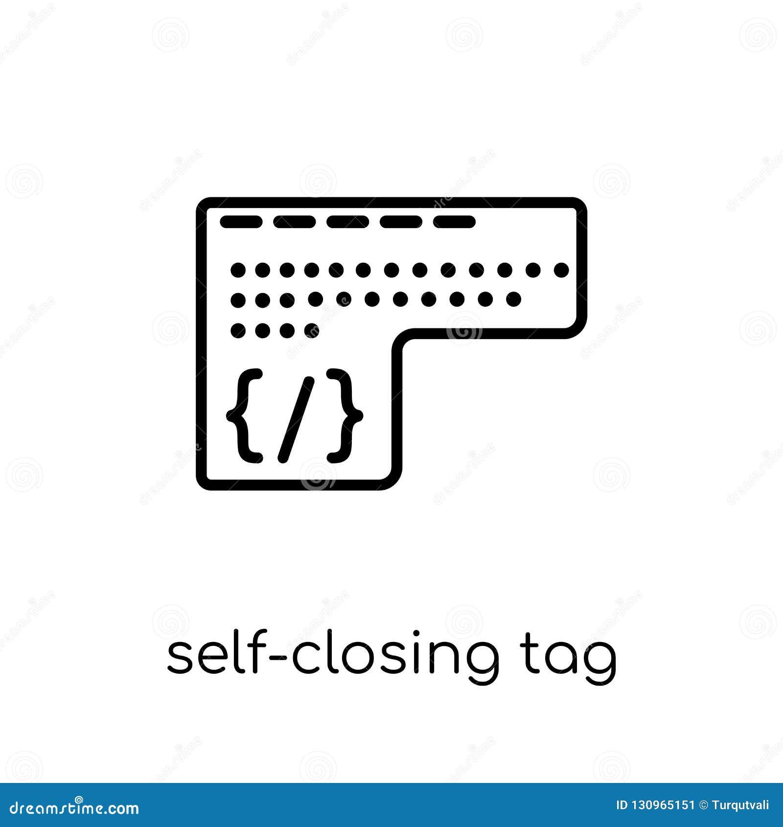 Ícone de fecho automático da etiqueta Auto-clo lineares lisos modernos na moda do vetor
