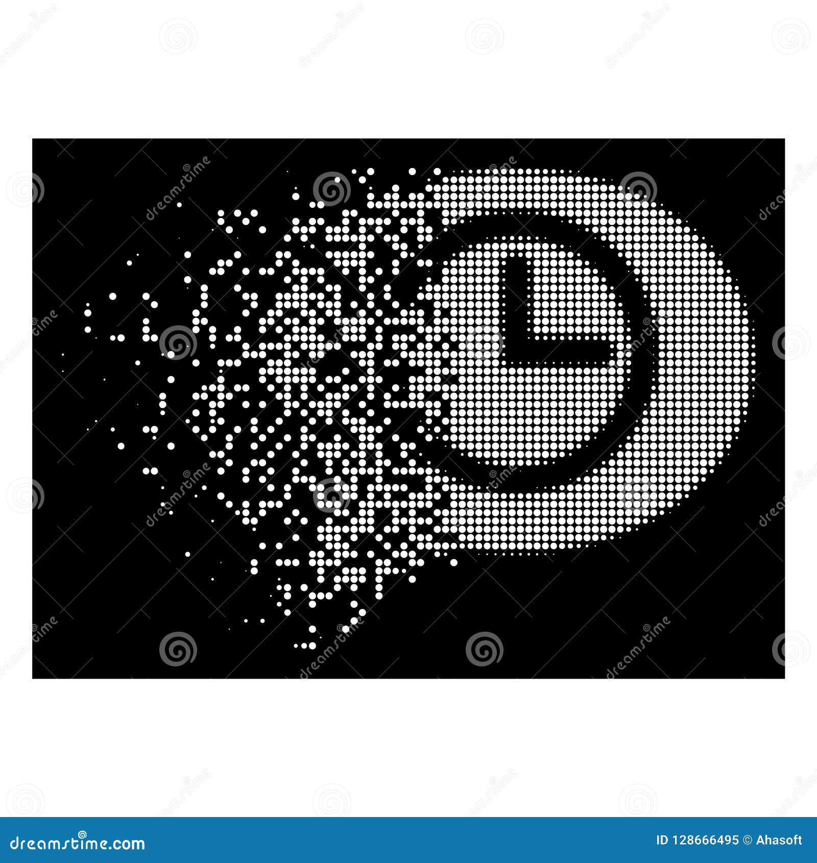 Ícone de intervalo mínimo de desaparecimento brilhante do tempo de mensagem de Pixelated