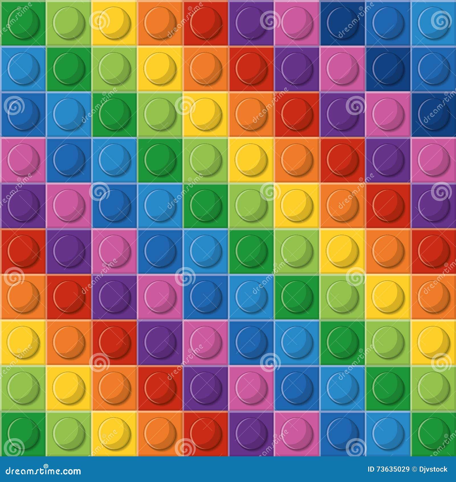 Ícone de Lego Figura abstrata multicolored Gráfico de vetor