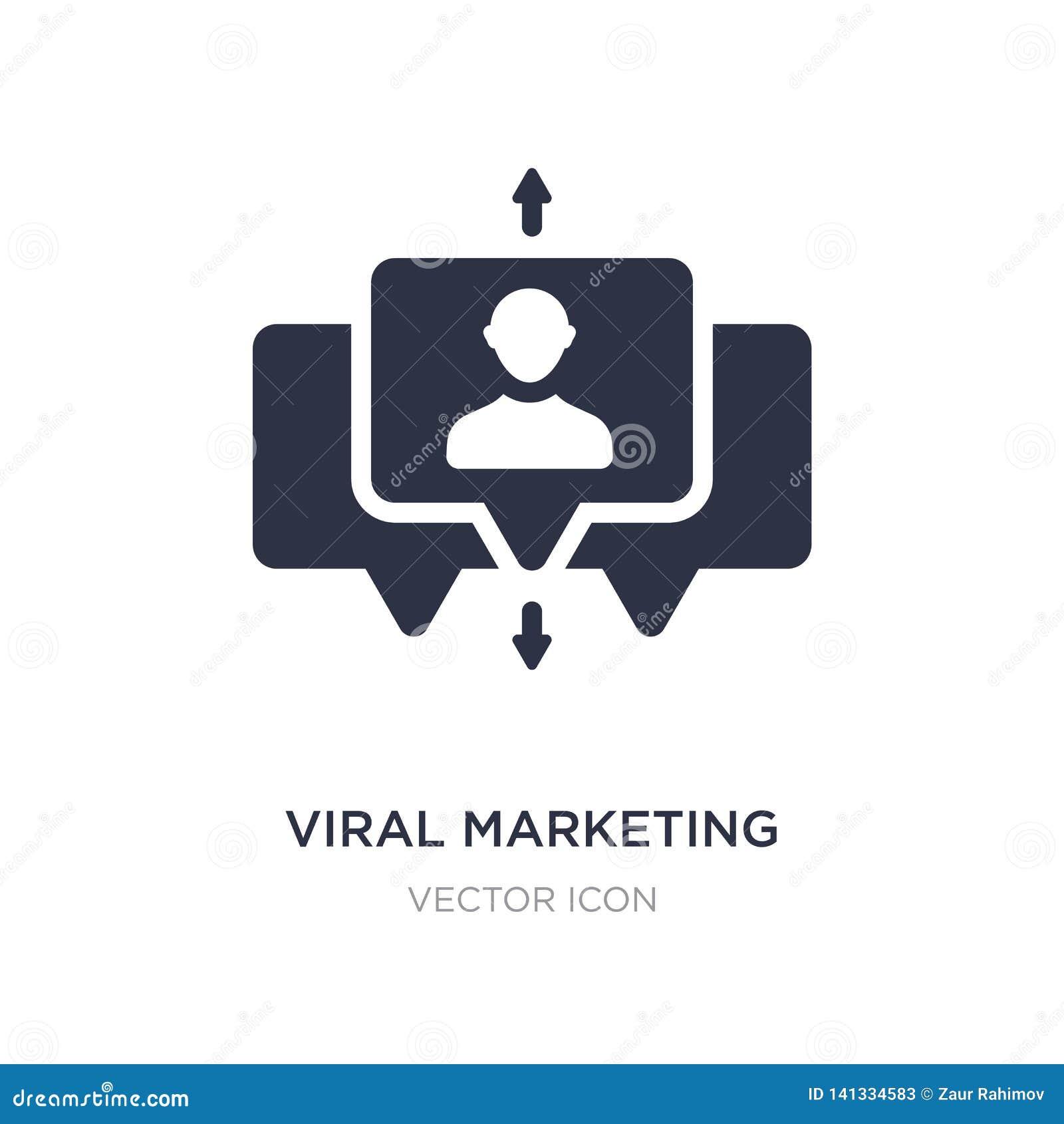 ícone de mercado viral no fundo branco Ilustração simples do elemento do conceito da otimização do Search Engine