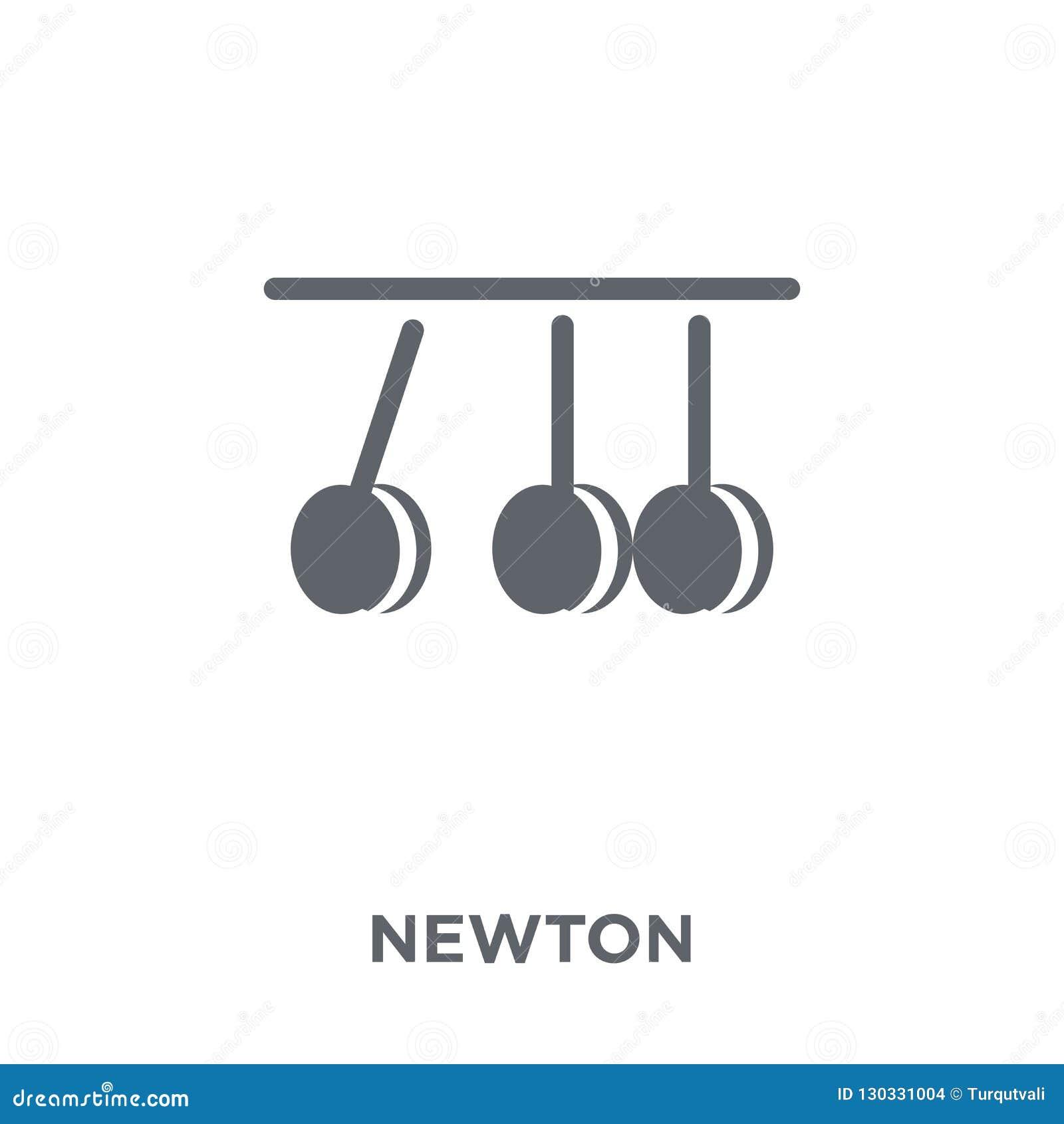 Ícone de Newton da coleção da ciência