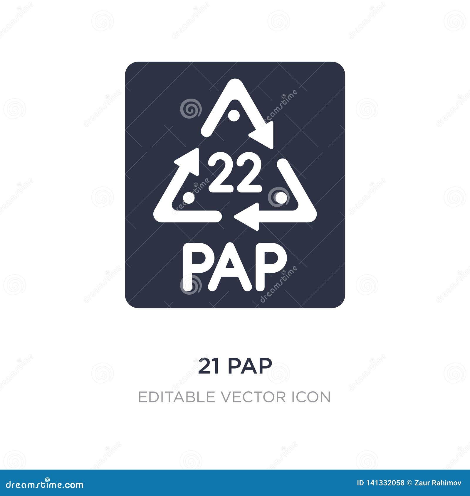 ícone de 21 pap no fundo branco Ilustração simples do elemento do conceito de UI