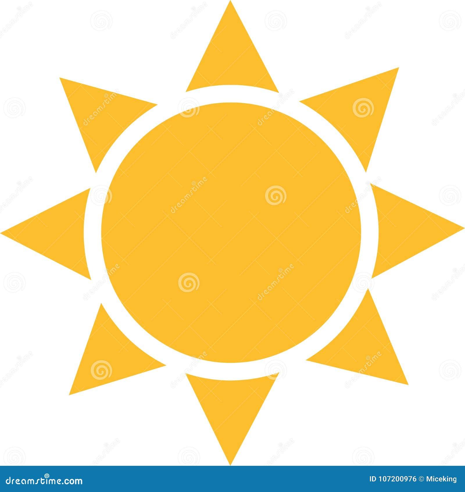 Ícone de Sun com raios de sol esquadrados