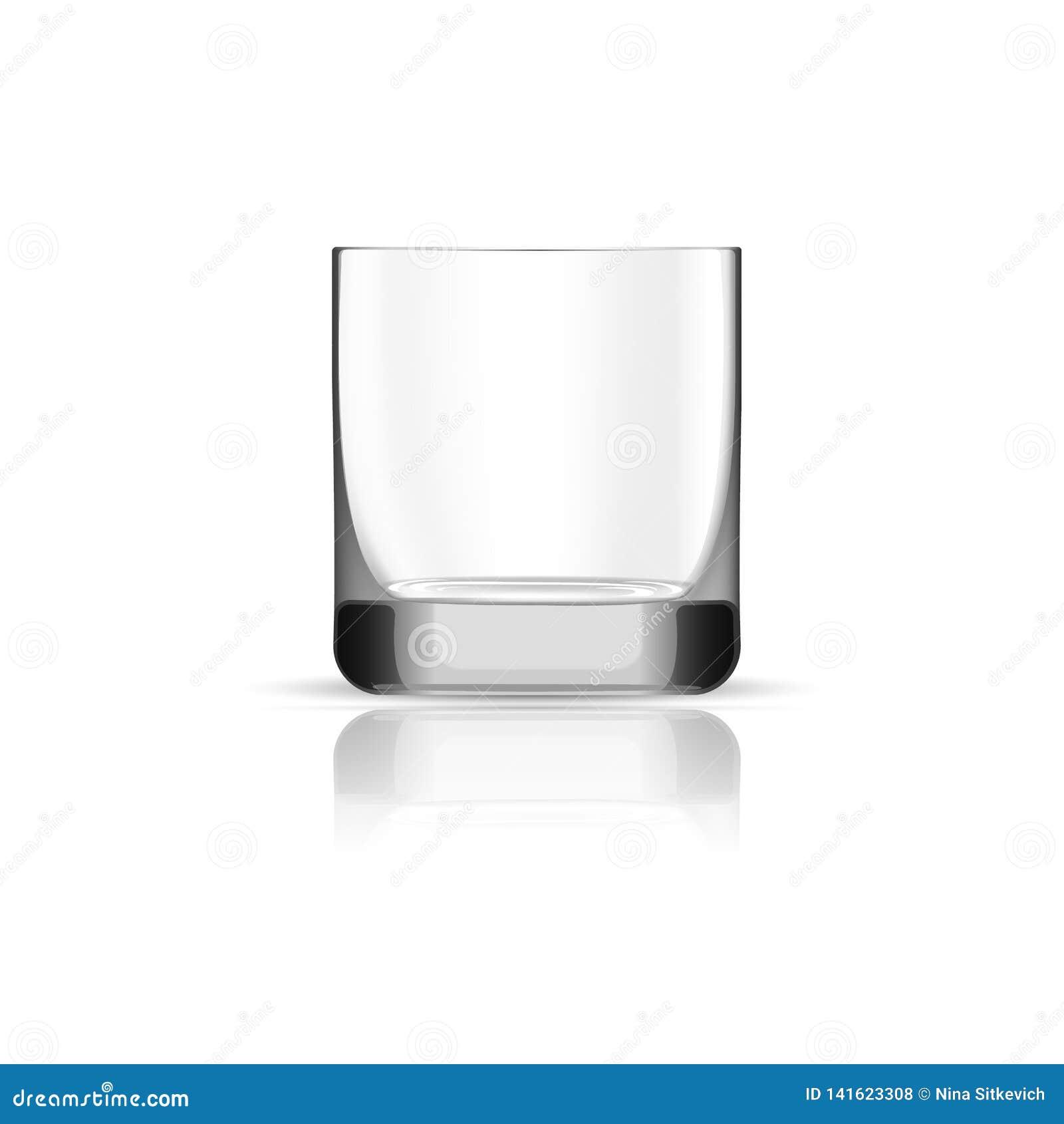 Ícone de vidro do uísque vazio, estilo realístico
