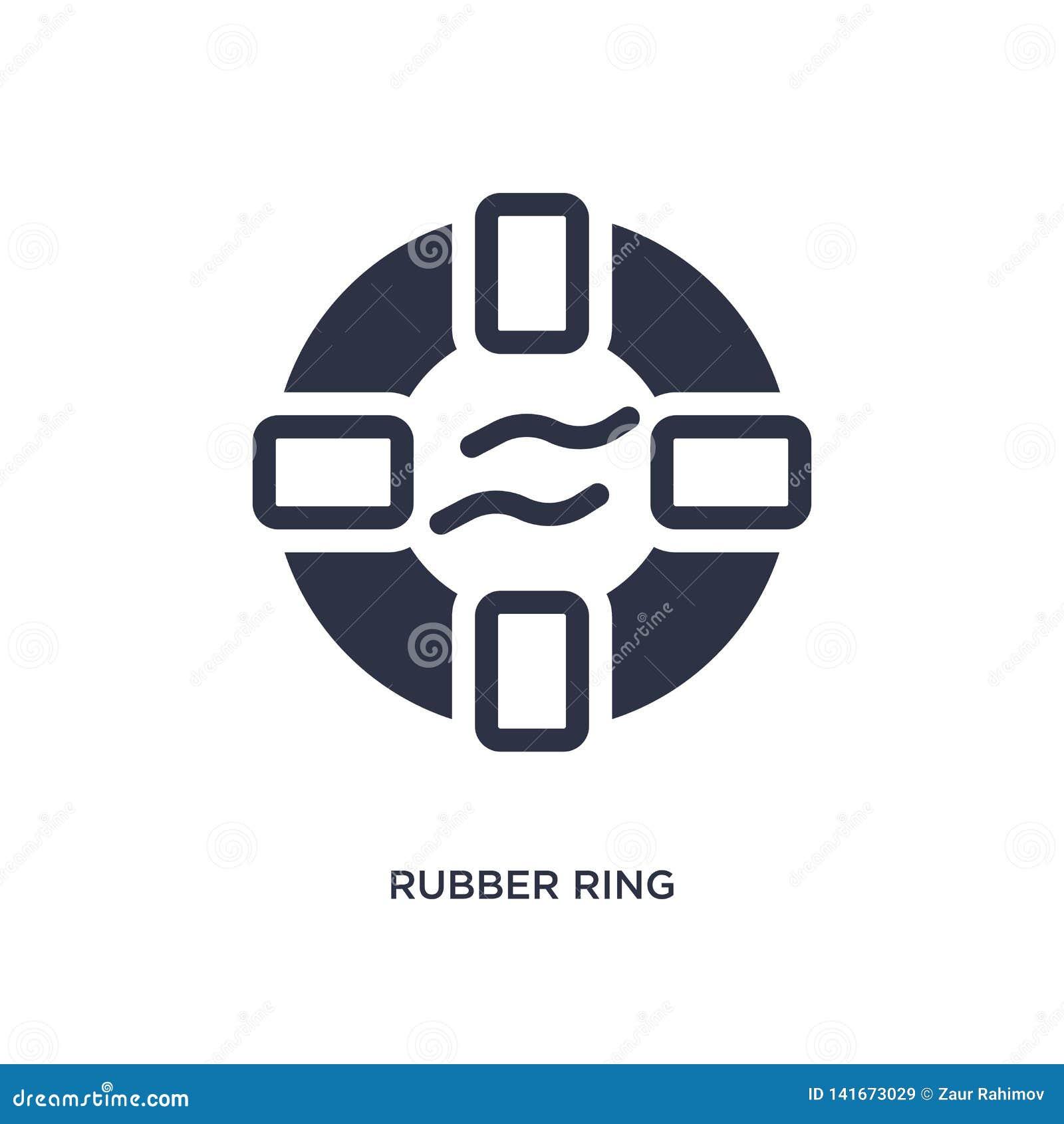 ícone do anel de borracha no fundo branco Ilustração simples do elemento do conceito do verão