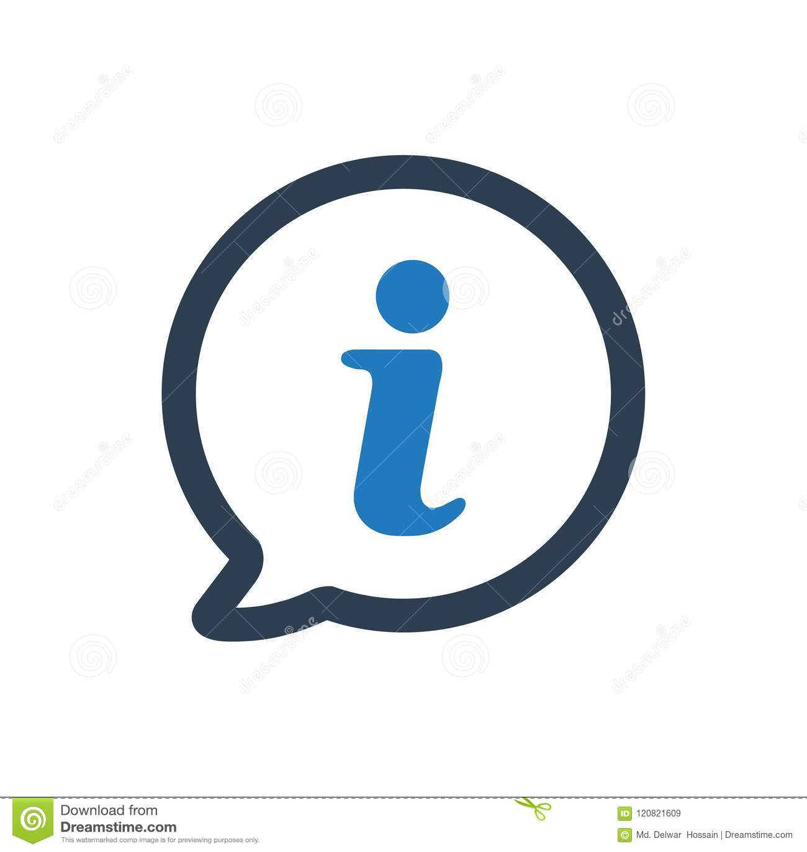 Ícone do apoio da informação