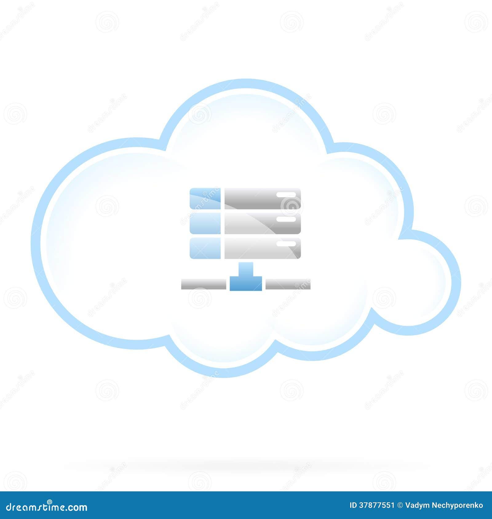 Ícone do armazenamento da nuvem