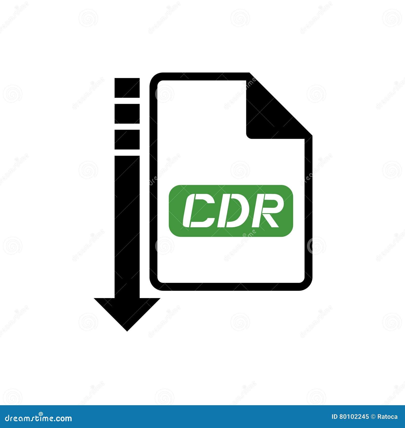 Ícone do arquivo dos cdr do computador