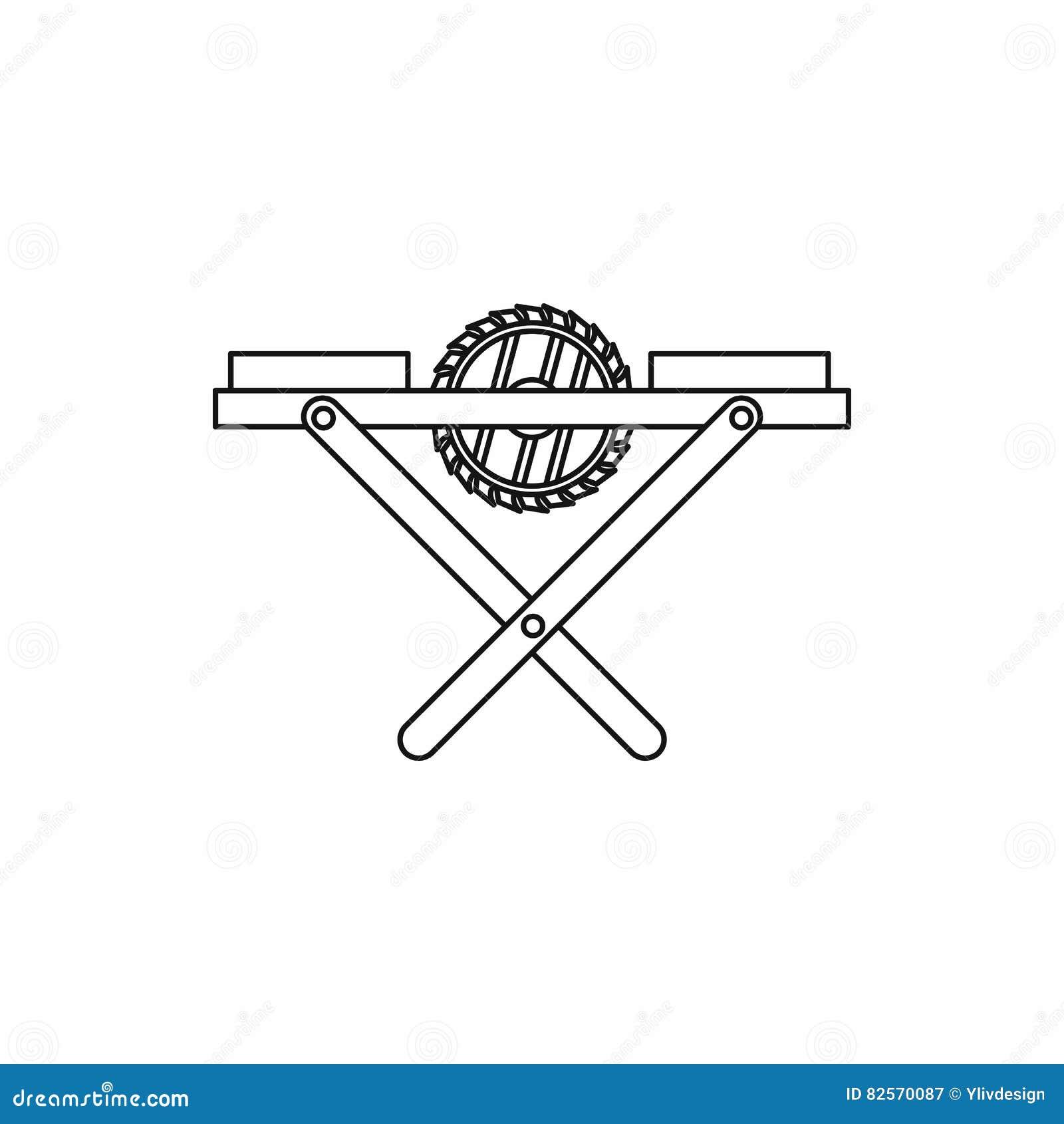 ícone do banco da Poder-serra, estilo do esboço