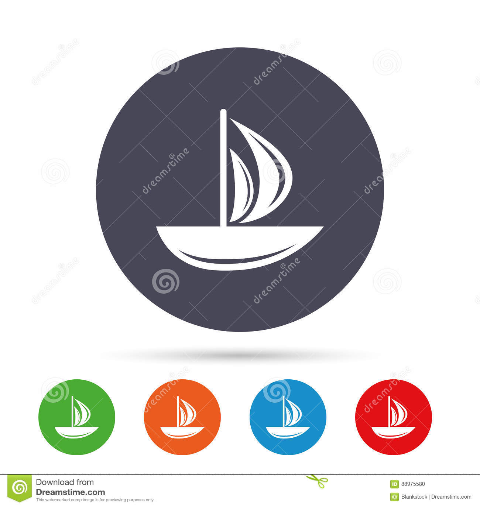 Ícone do barco de vela Sinal do navio