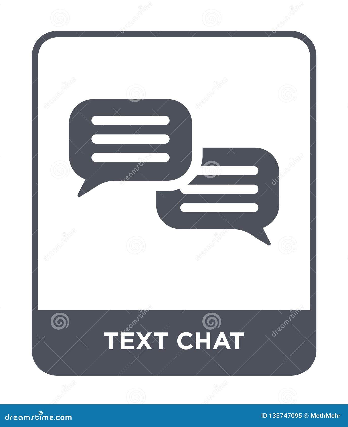ícone do bate-papo do texto no estilo na moda do projeto ícone do bate-papo do texto isolado no fundo branco plano simples e mode