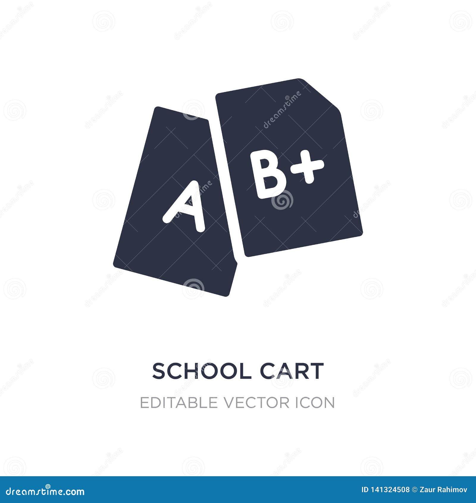 ícone do carro da escola no fundo branco Ilustração simples do elemento do conceito da educação