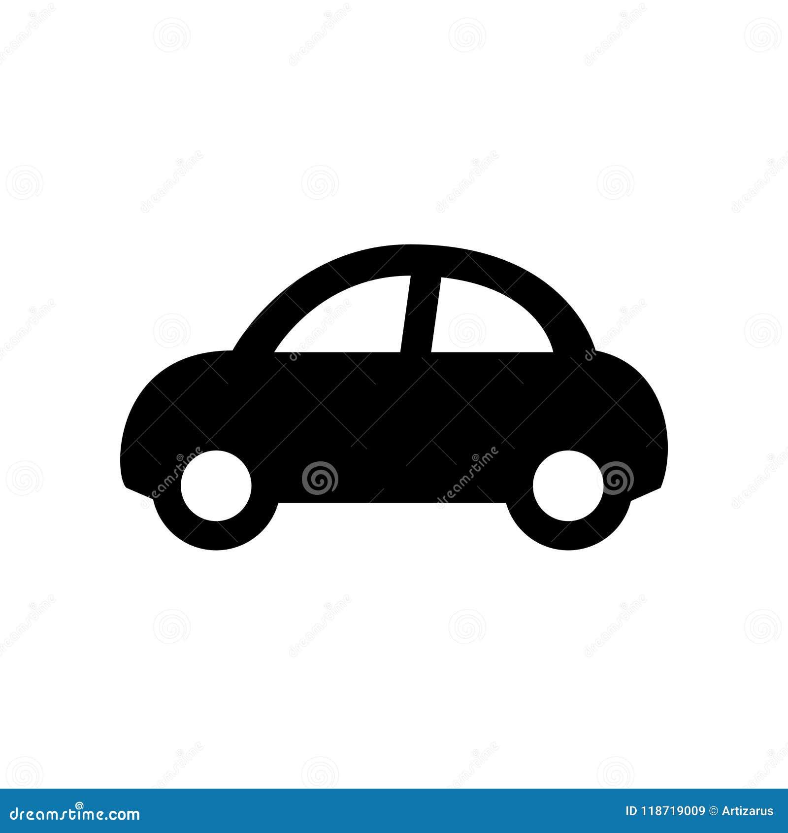 Ícone do carro isolado no branco