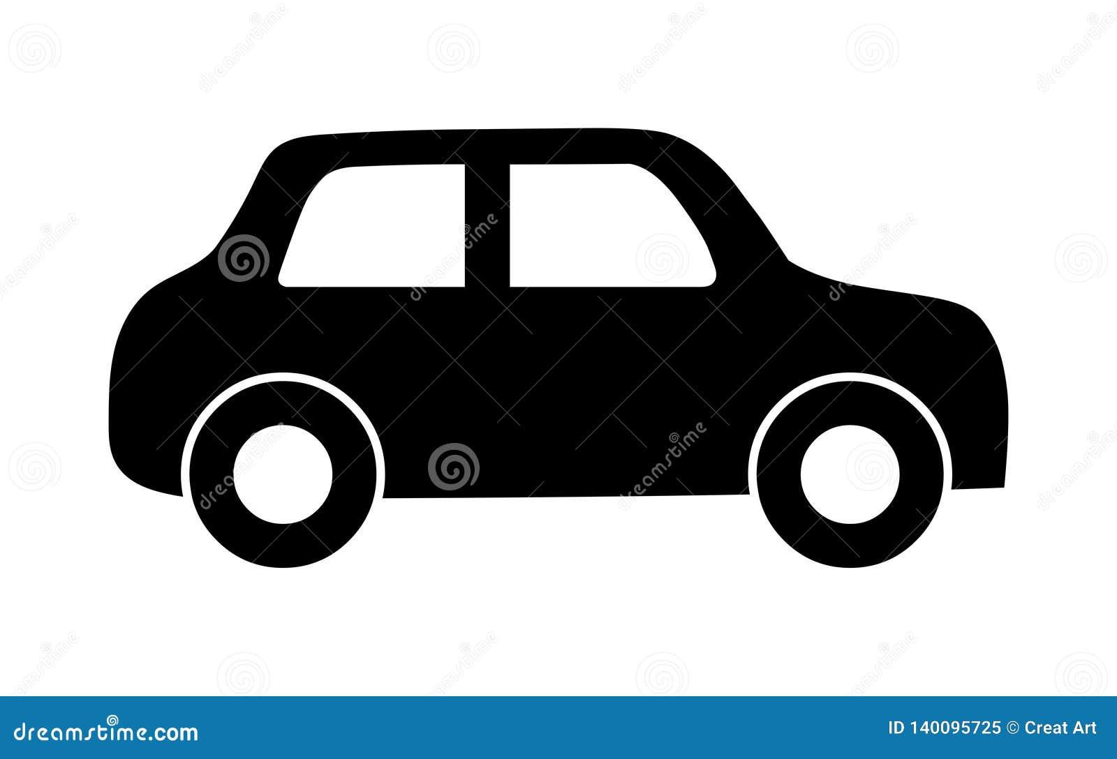 Ícone do carro Silhueta do preto do logotipo do carro