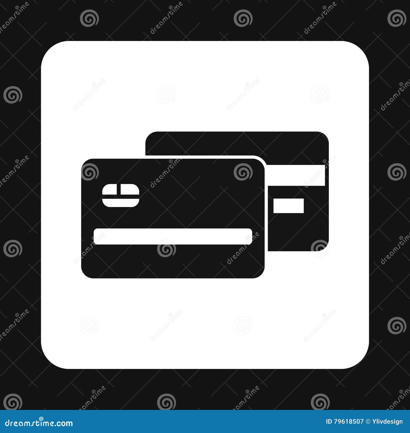 Ícone do cartão de crédito, estilo simples