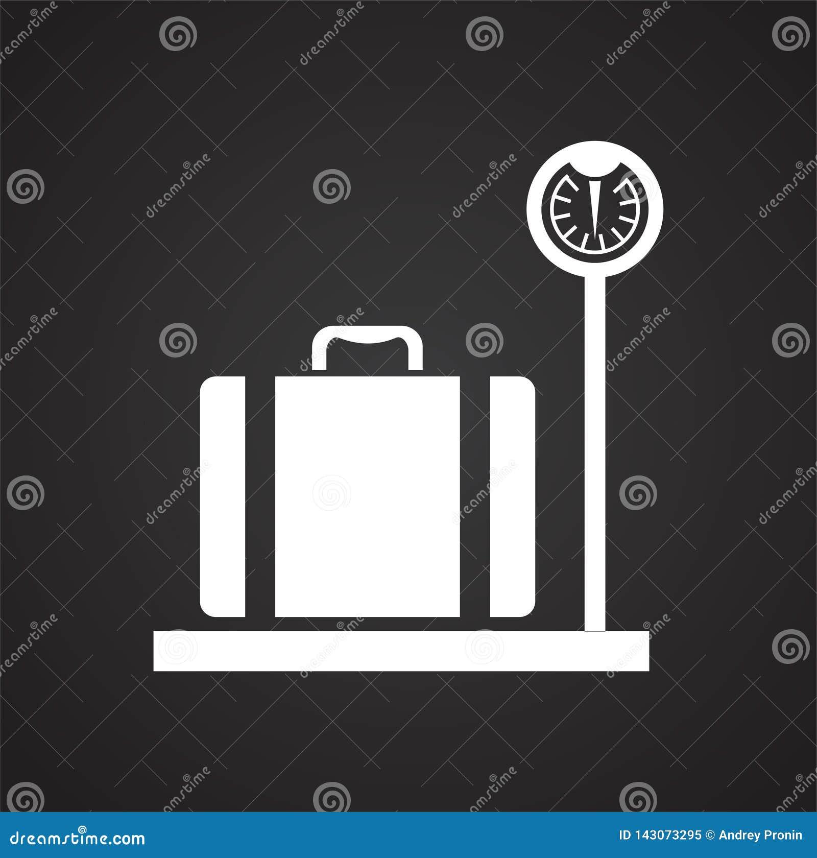 Ícone do caso no fundo para o gráfico e o design web Sinal simples do vetor Símbolo do conceito do Internet para o botão do Web s