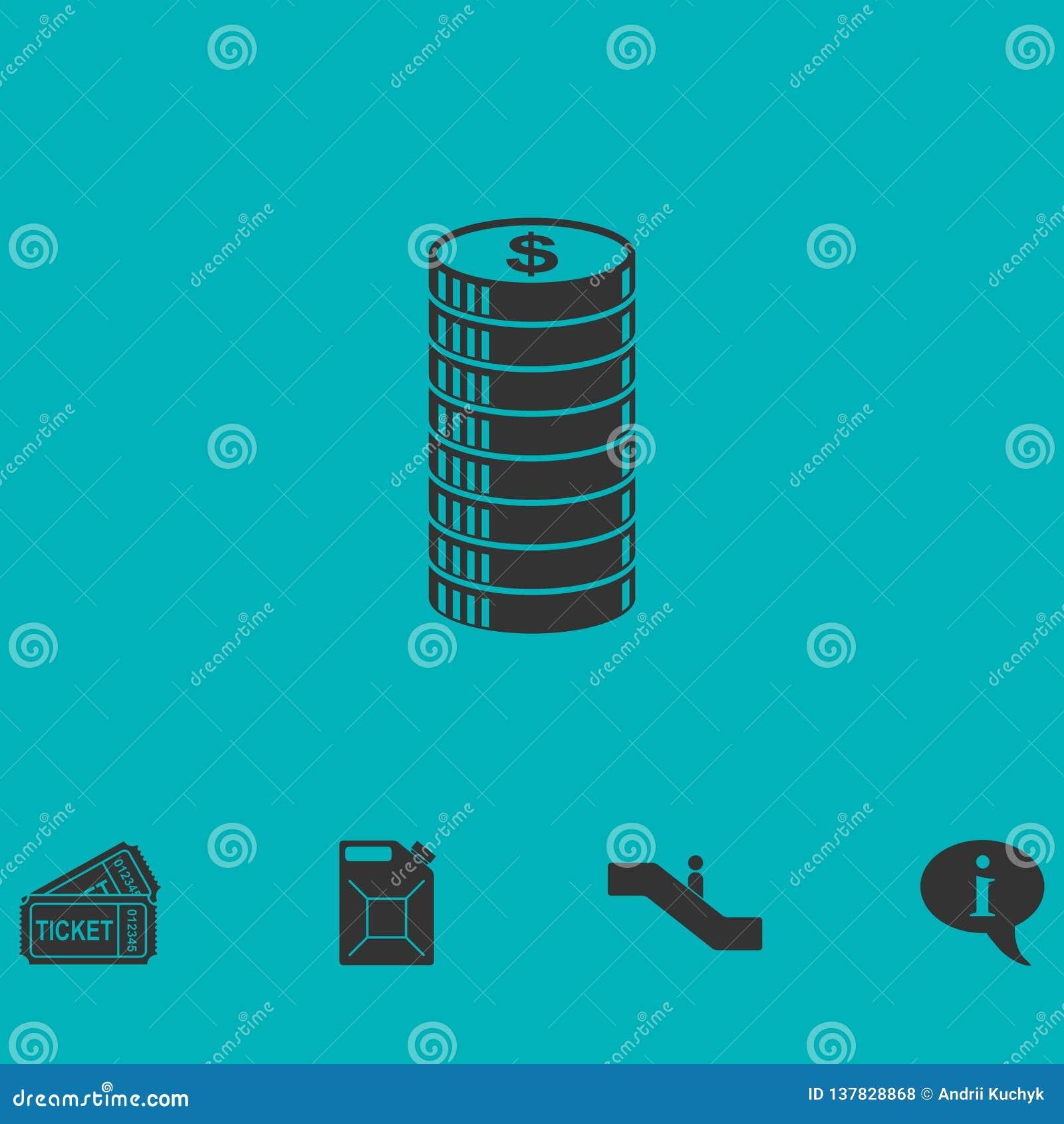Ícone do ícone do centavo horizontalmente