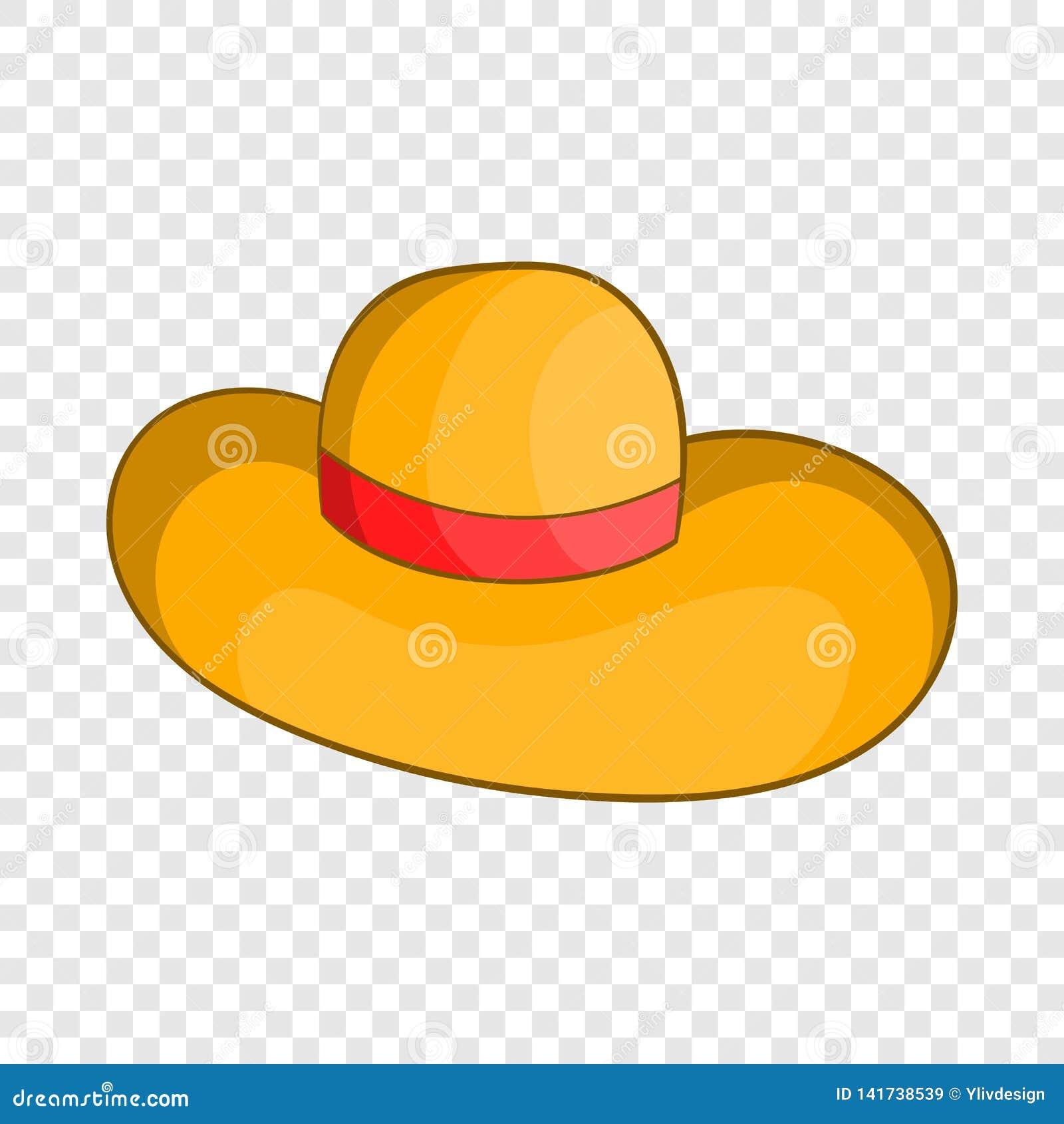 6d5fb1bcae Ícone do chapéu da praia das mulheres no estilo dos desenhos animados  isolado no fundo para algum design web