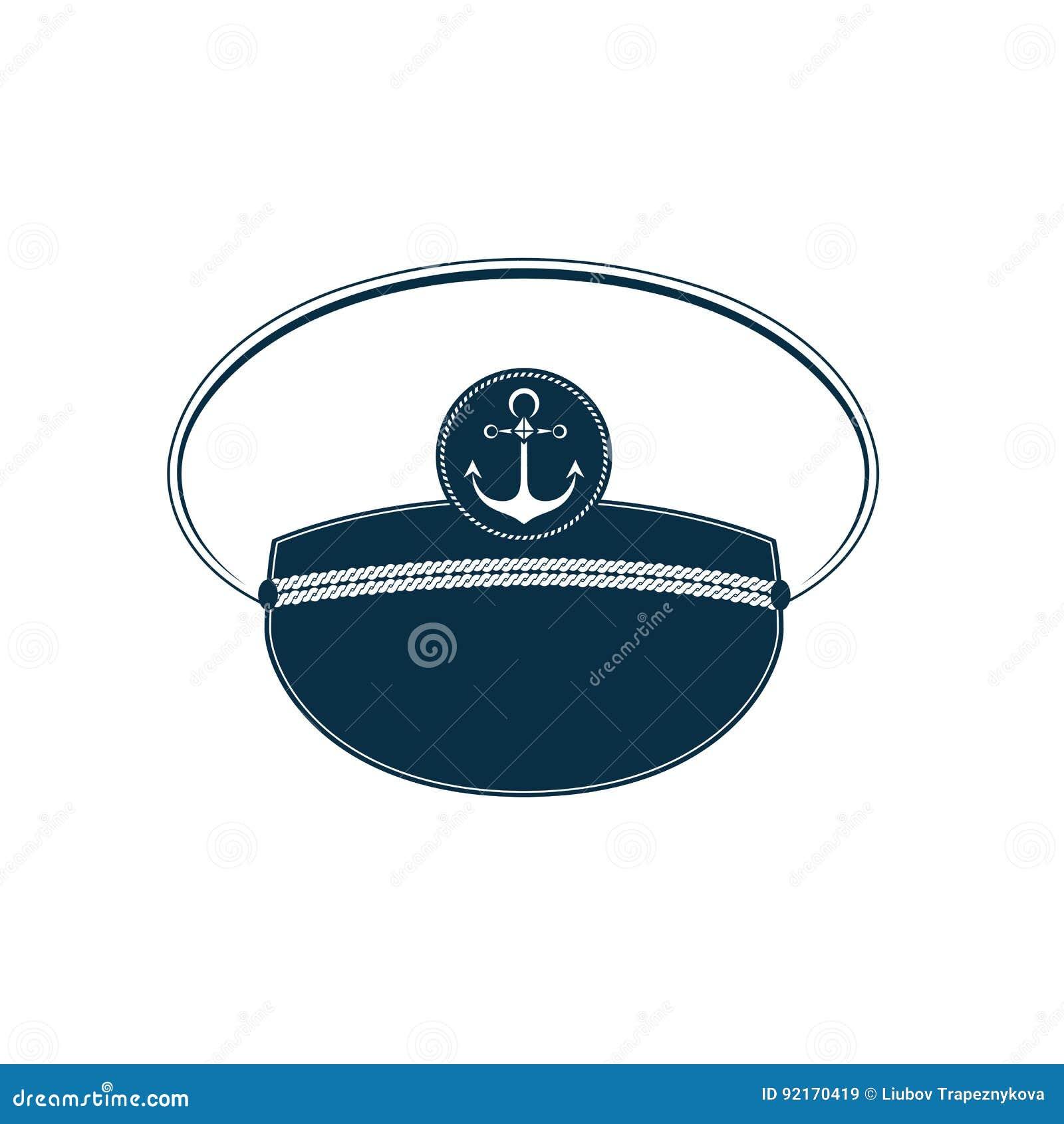 Ícone do chapéu do ` s do capitão Tampão de marinheiro Equipamento marinho b5844072a84
