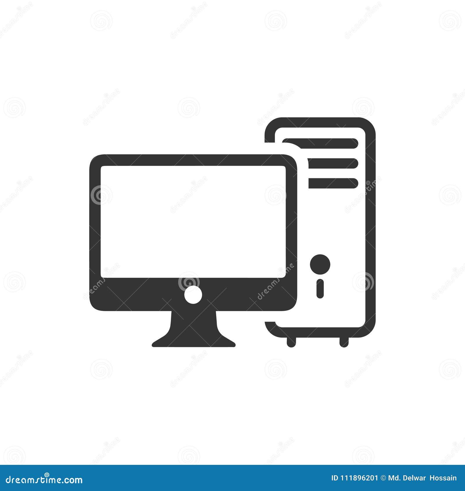 Ícone do computador de secretária