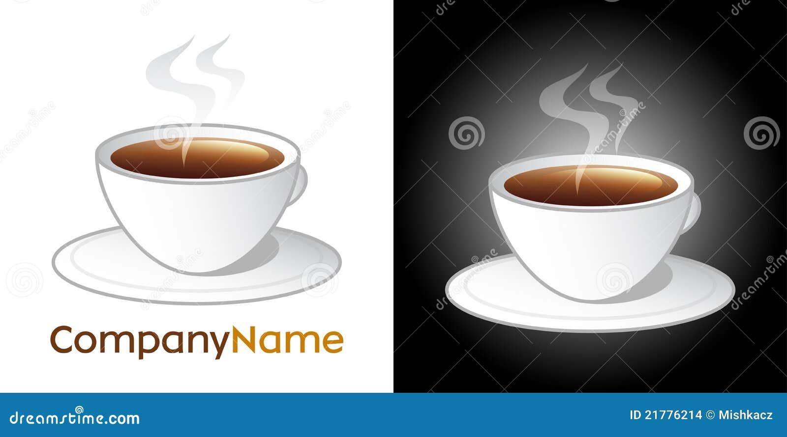Ícone do copo de café e projeto do logotipo