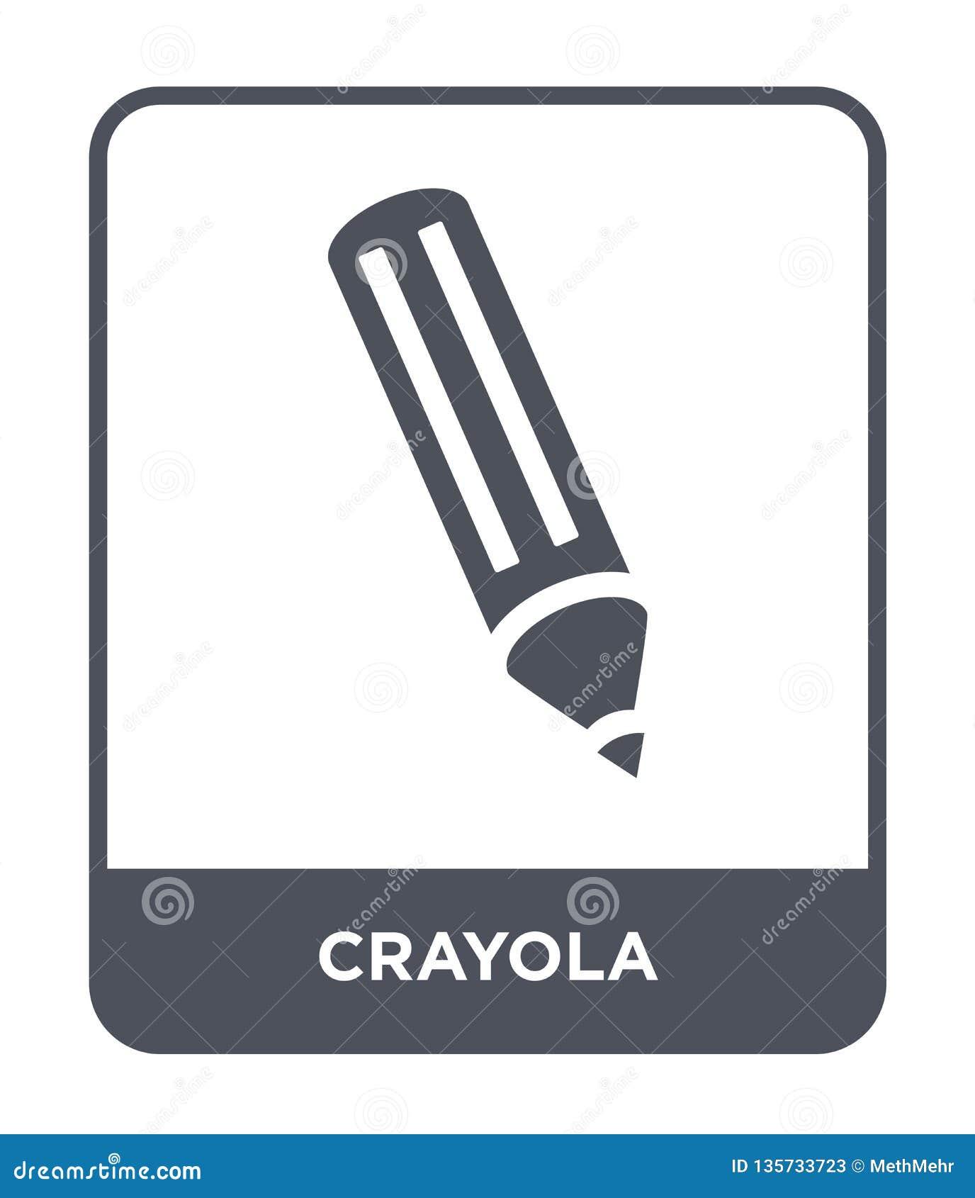 ícone do crayola no estilo na moda do projeto ícone do crayola isolado no fundo branco símbolo liso simples e moderno do ícone do