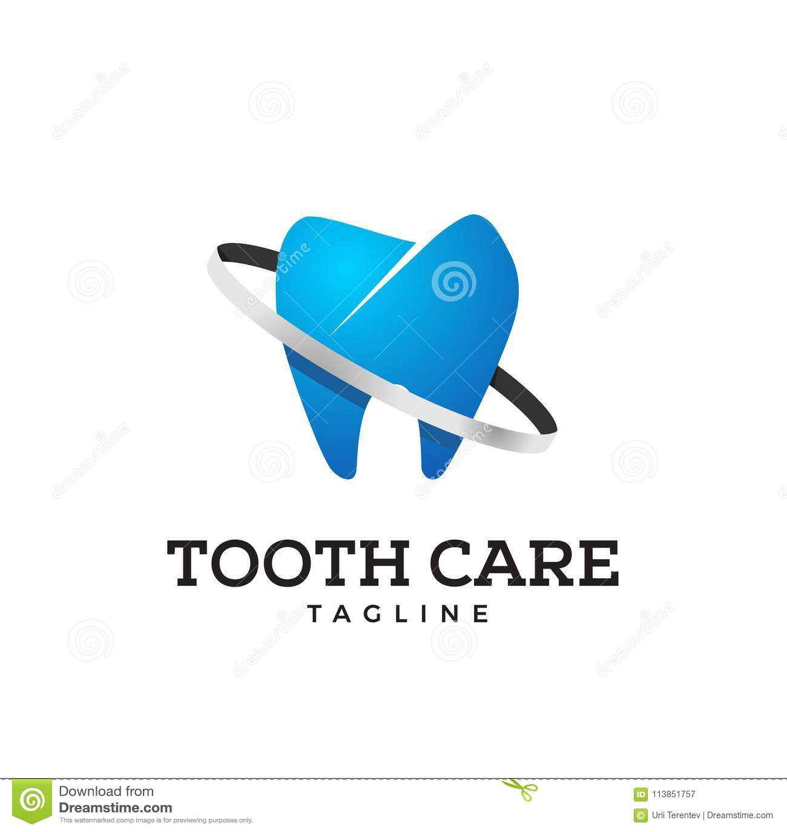 Ícone do dente na cor azul