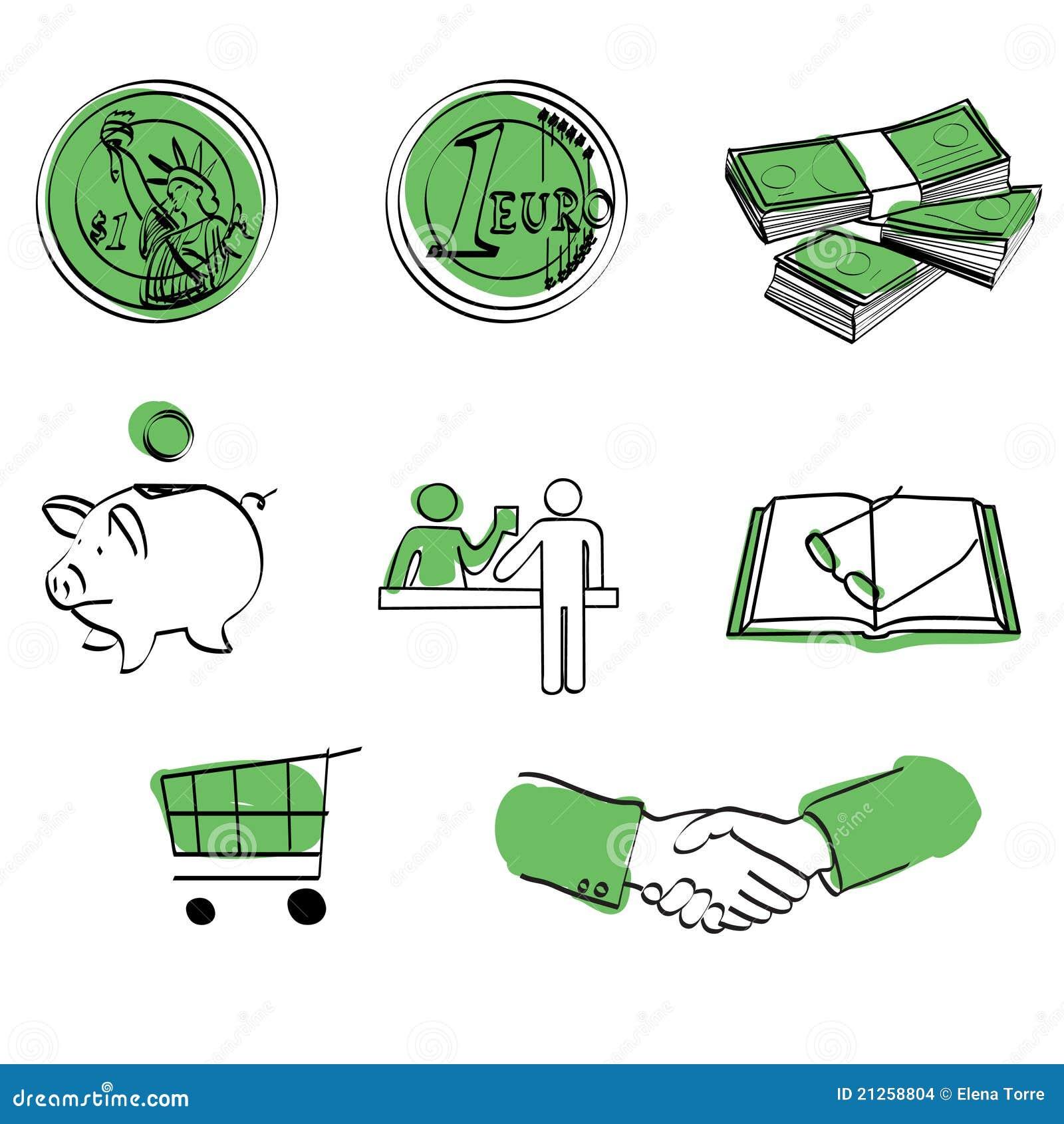 Ícone do dinheiro ajustado + vetor
