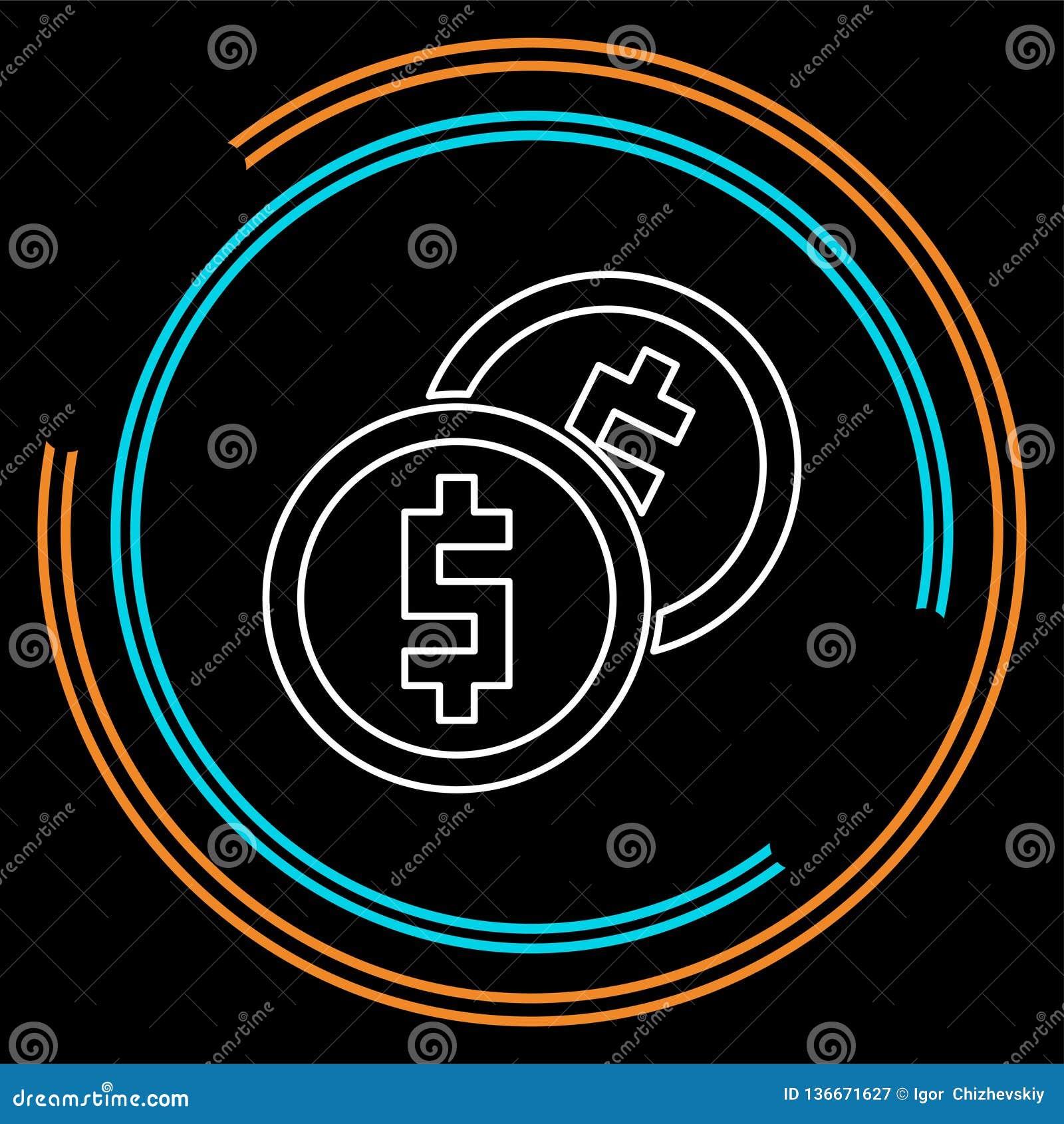 Ícone do dinheiro do vetor Sistema de pagamento