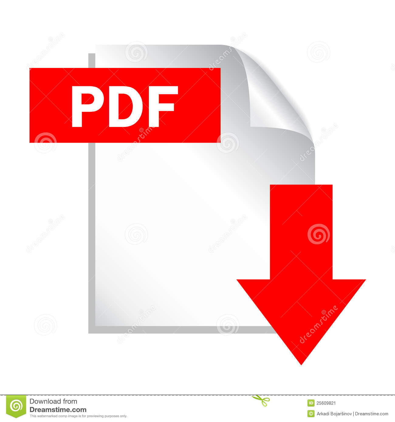 Ícone do download do arquivo do pdf