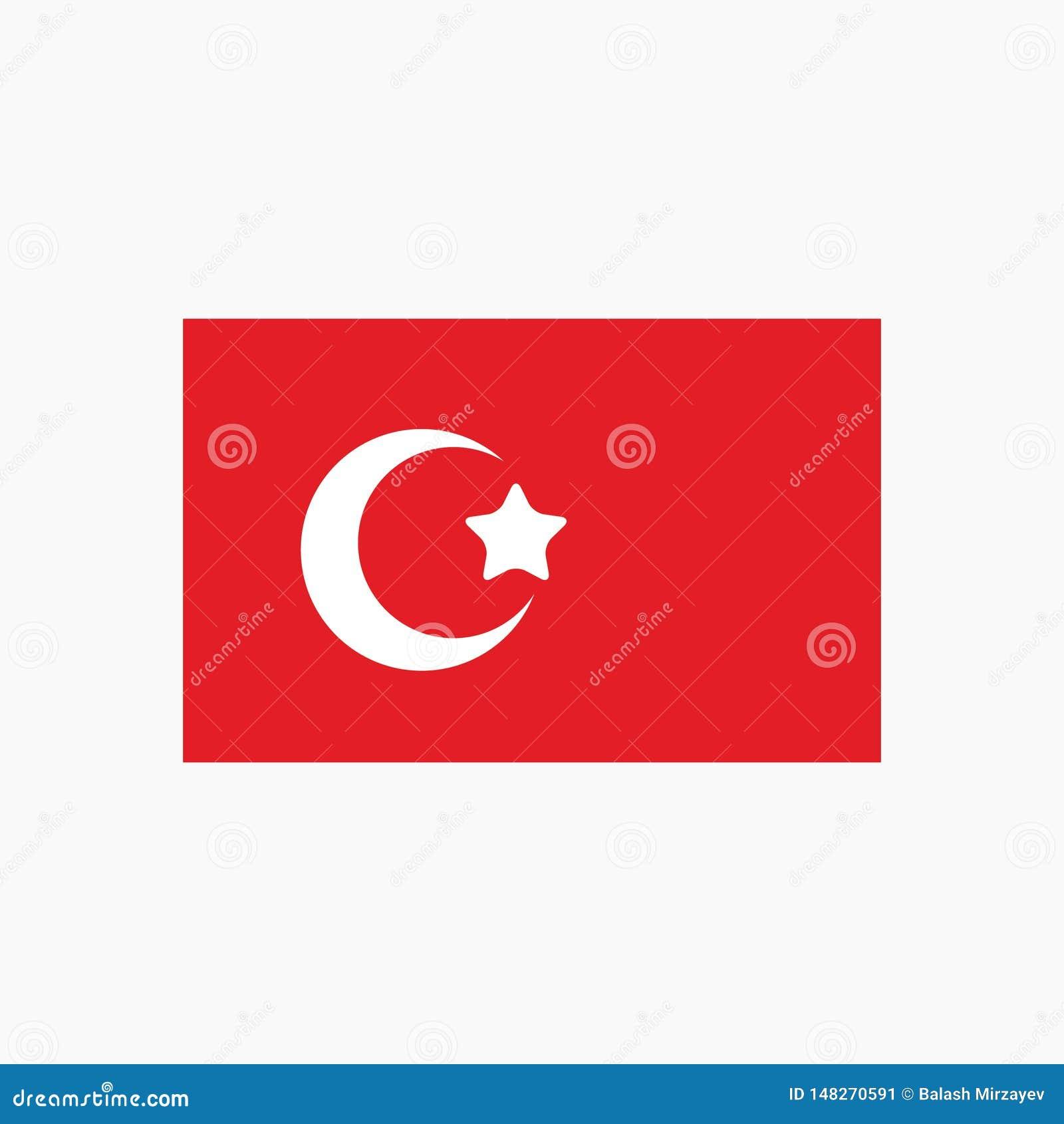 Ícone do emblema do país do grupo da bandeira nacional de Turquia