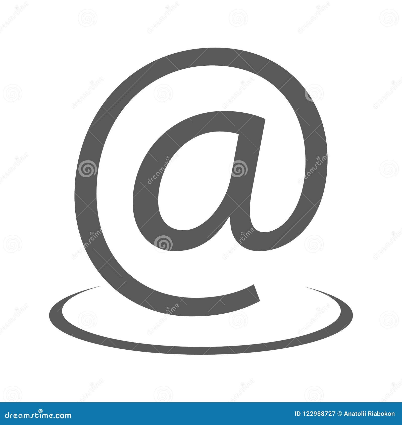 Ícone do endereço email simples