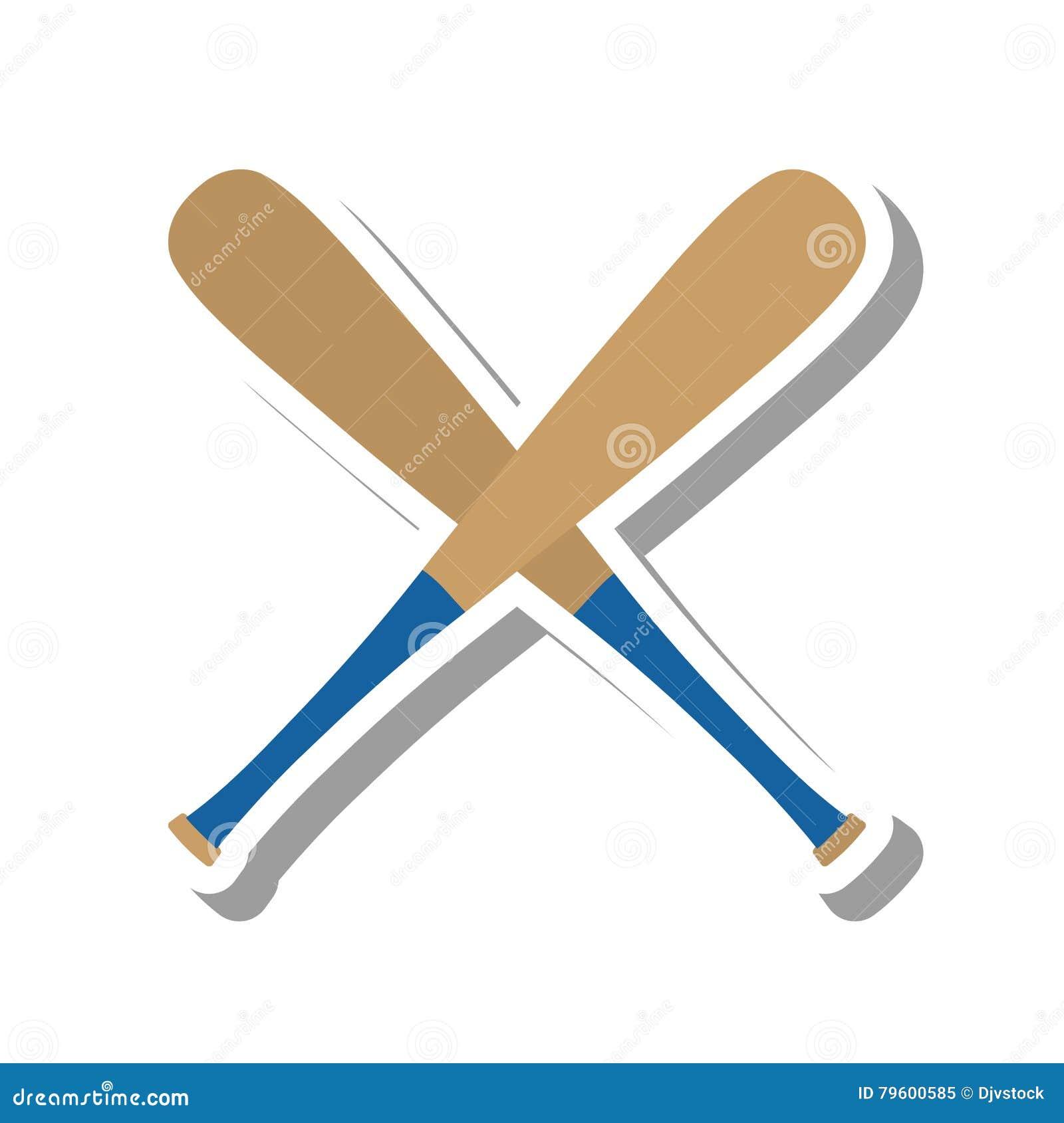 Ícone do equipamento do bastão de beisebol