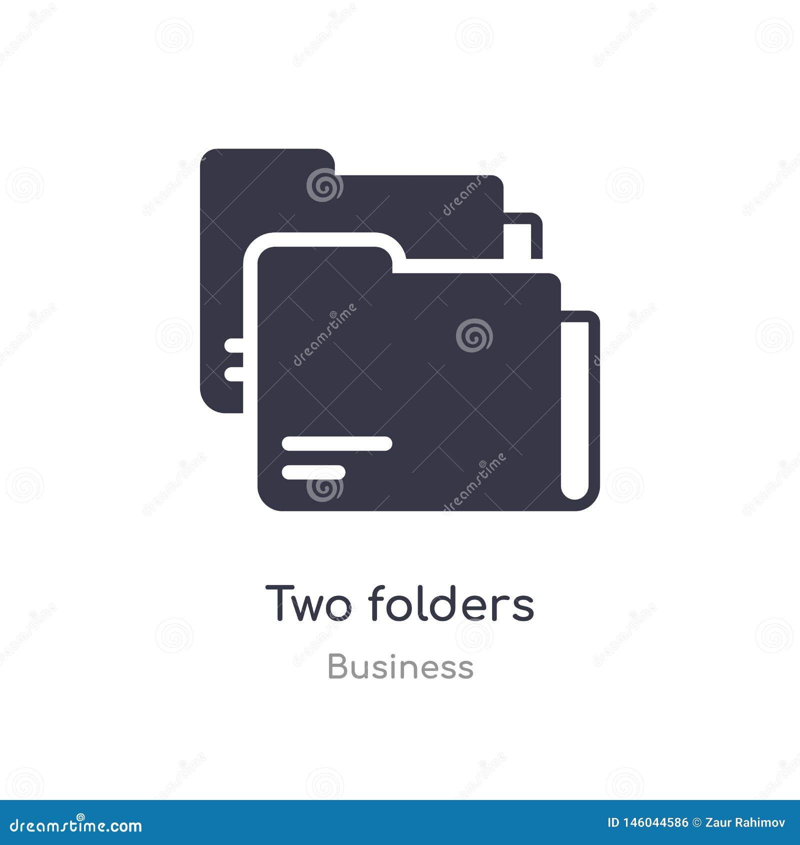 ícone do esboço de dois dobradores linha isolada ilustra??o do vetor da cole??o do neg?cio ícone fino editável dos dobradores do