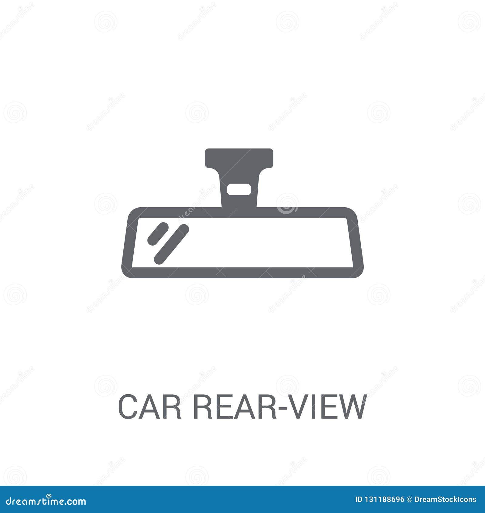 ícone do espelho retrovisor do carro