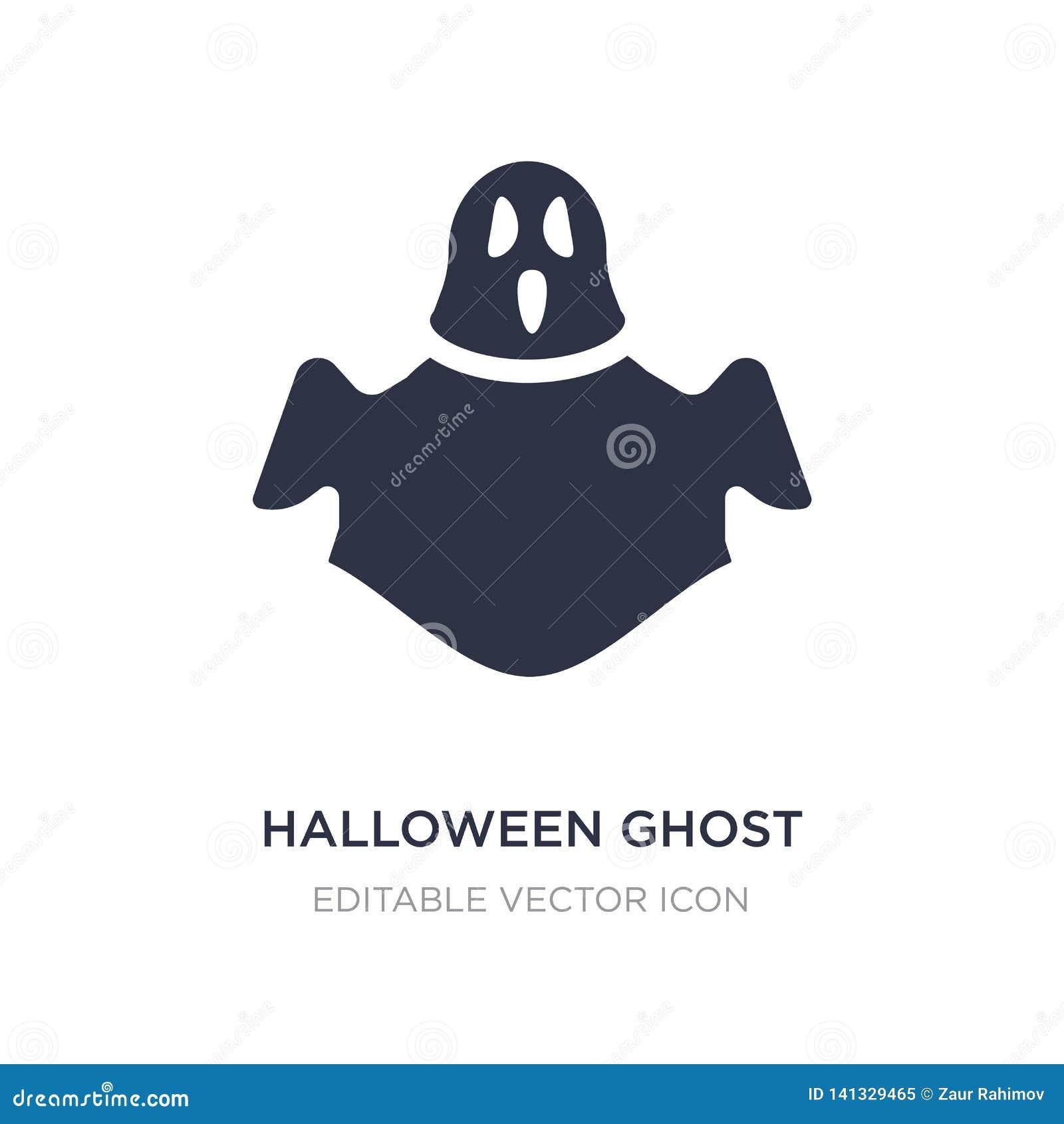 ícone do fantasma do Dia das Bruxas no fundo branco Ilustração simples do elemento do conceito de Dia das Bruxas