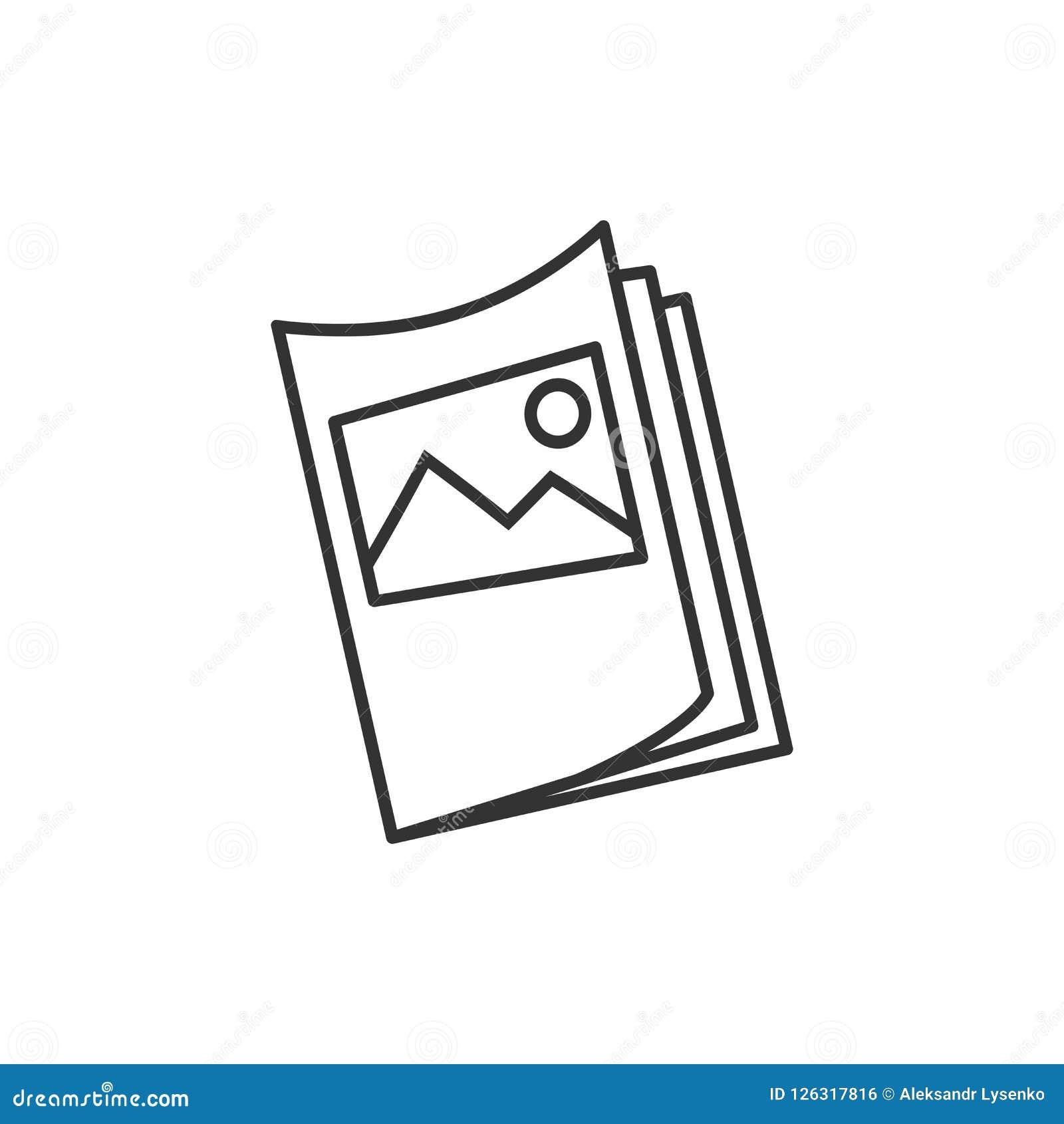 Ícone do folheto do inseto no estilo liso Illustra do vetor da folha do folheto