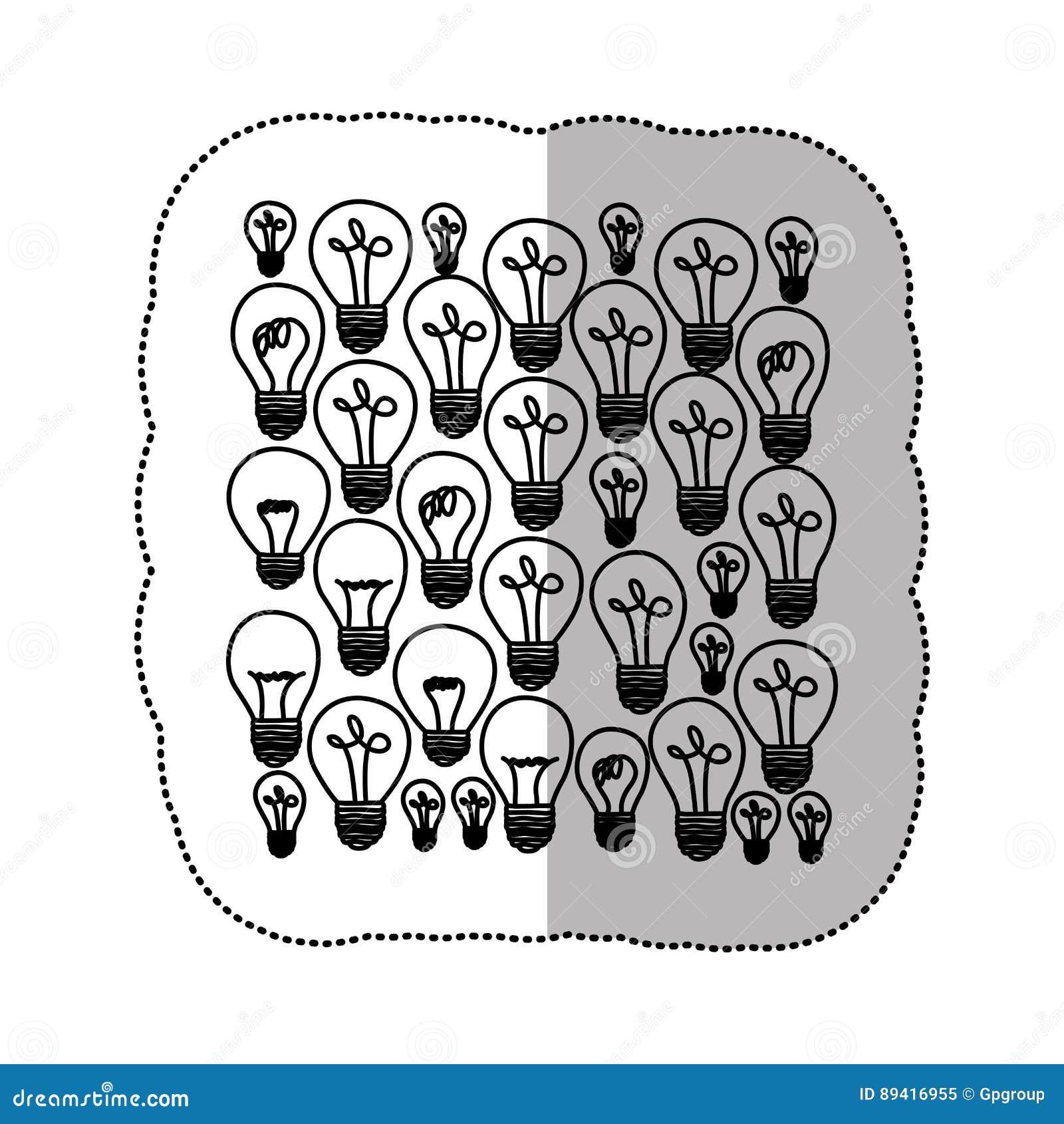 ícone do fundo da energia clara de bulbo