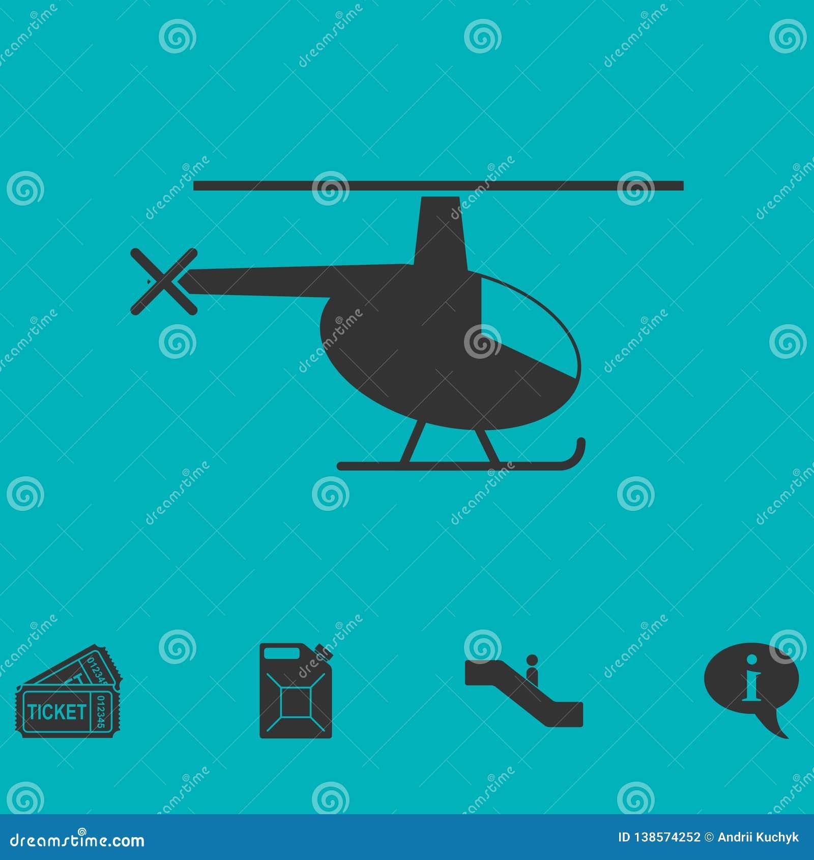 Ícone do helicóptero liso