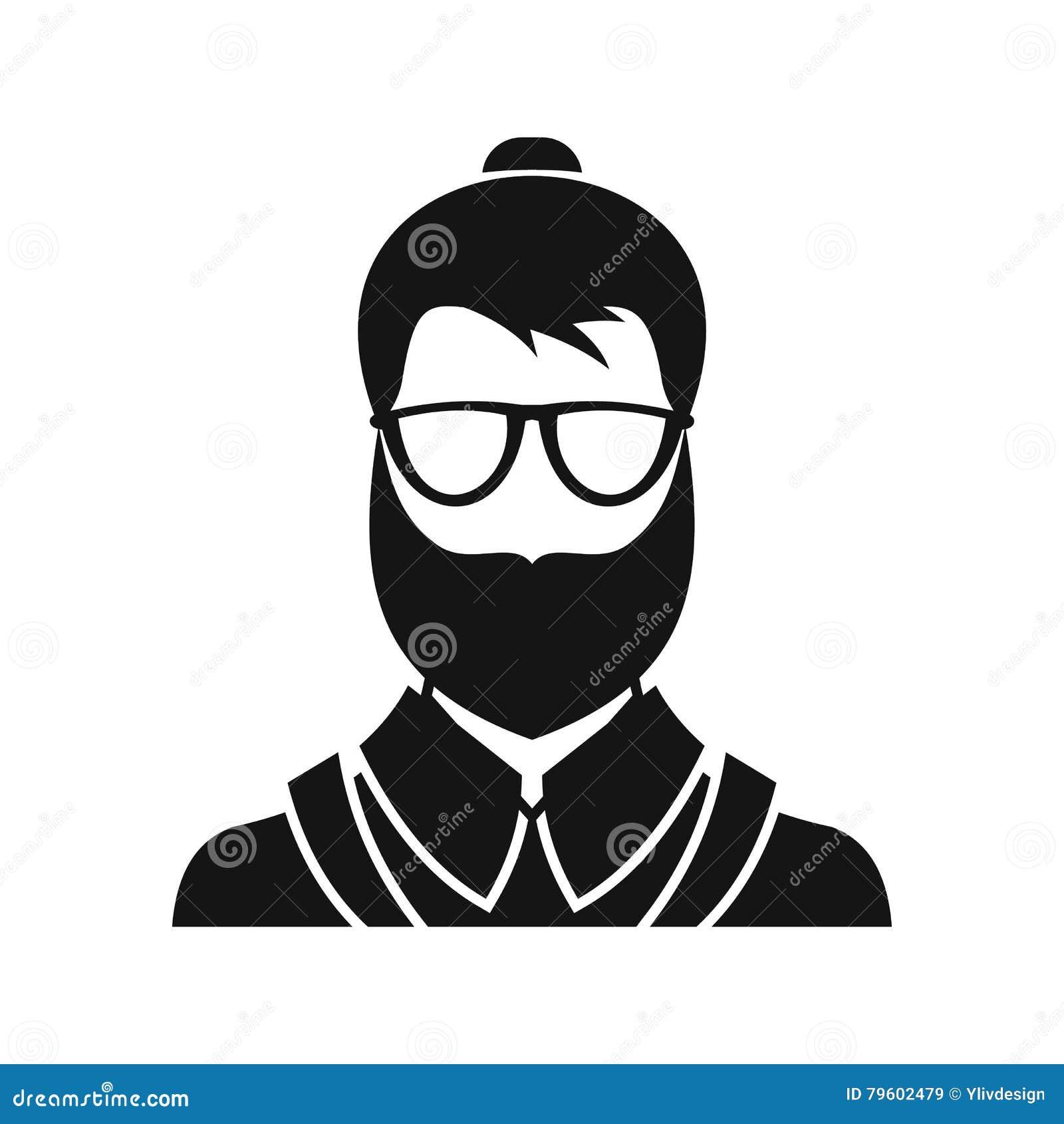 Ícone do homem de Hipsster, estilo simples