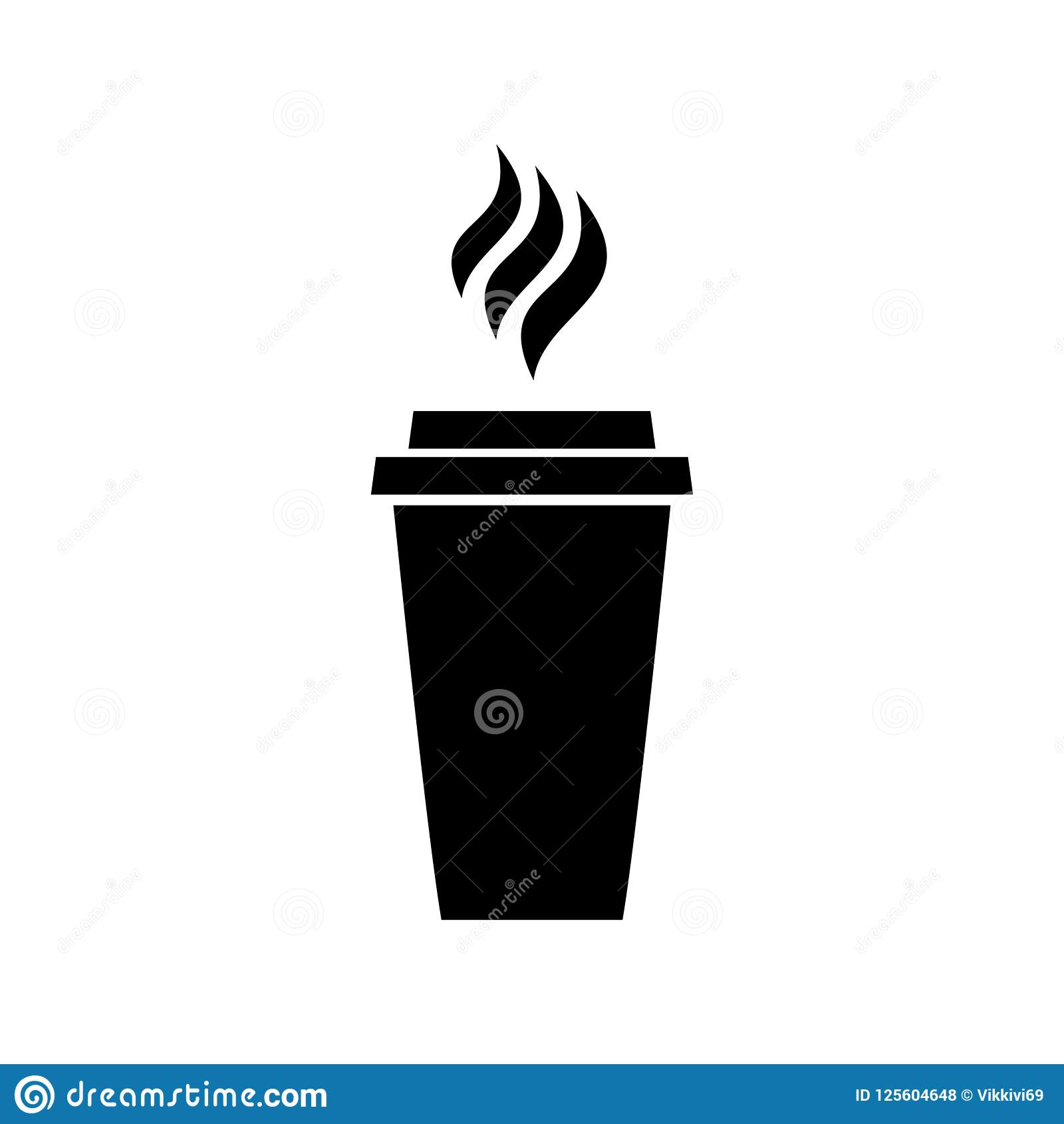 Ícone do logotipo bebendo do preto do latte do cappuccino do menu do almoço do restaurante das bebidas do café do café no fundo b