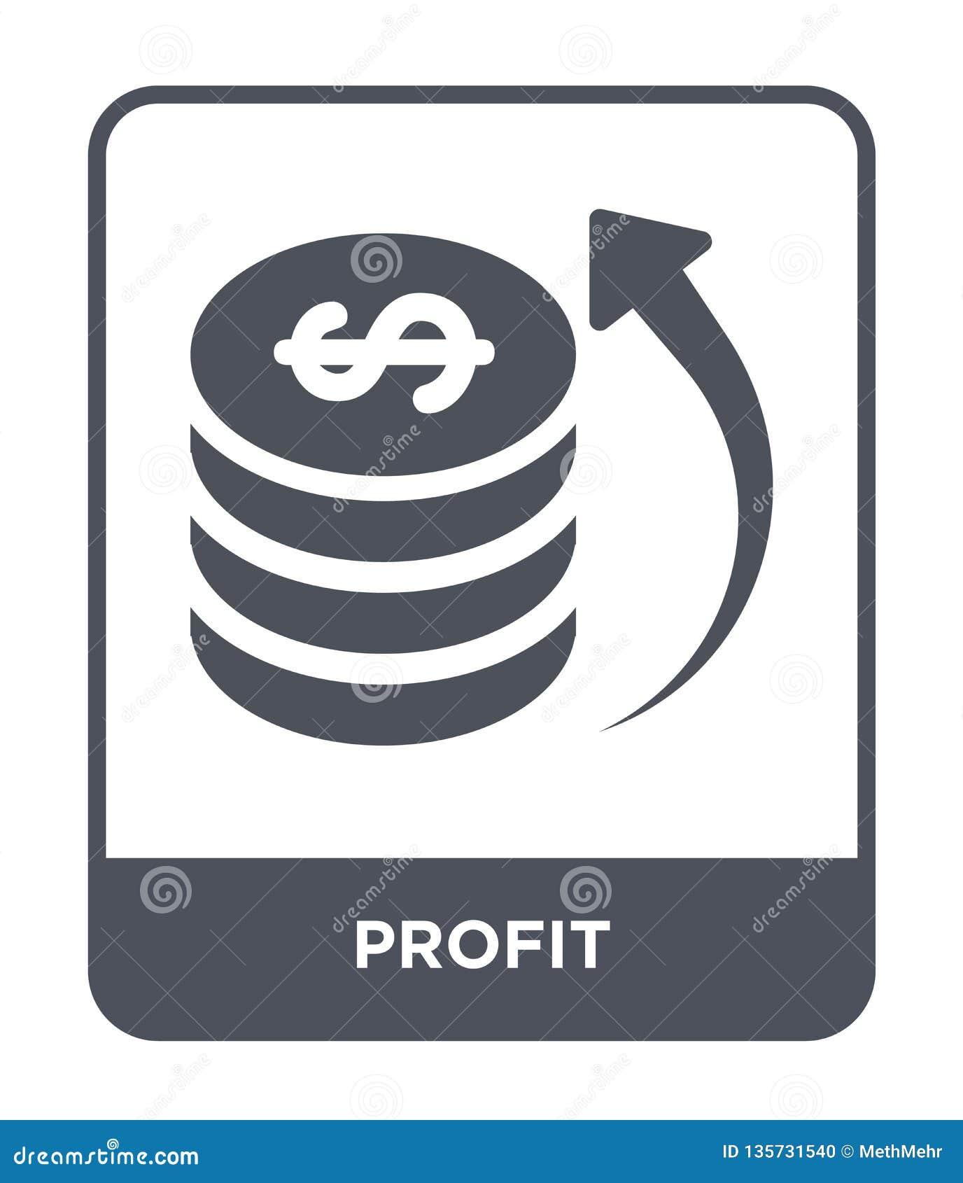 ícone do lucro no estilo na moda do projeto ícone do lucro isolado no fundo branco símbolo liso simples e moderno do ícone do vet
