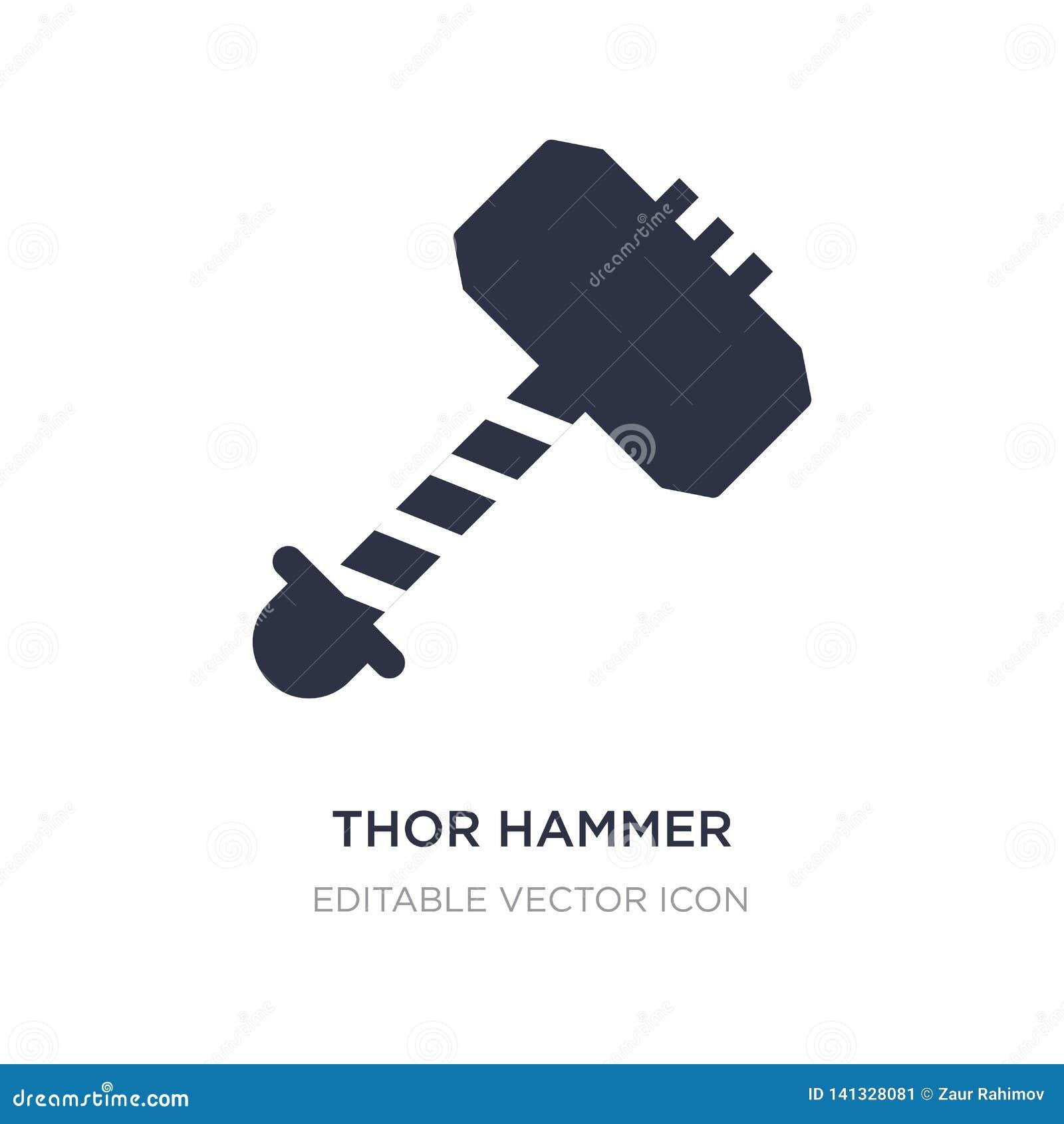 ícone Do Martelo Do Thor No Fundo Branco Ilustração Simples