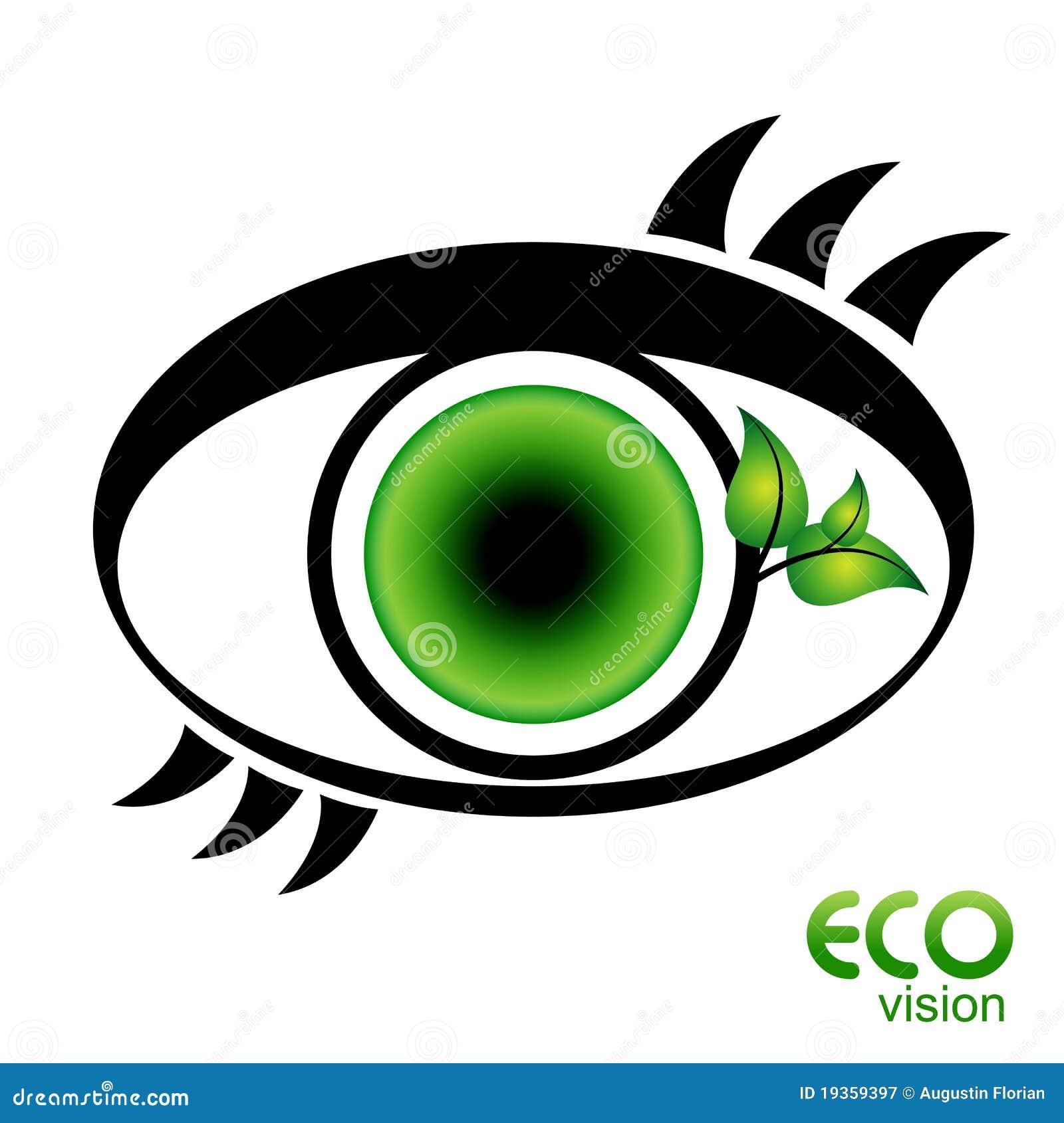 Ícone do olho da visão de Eco