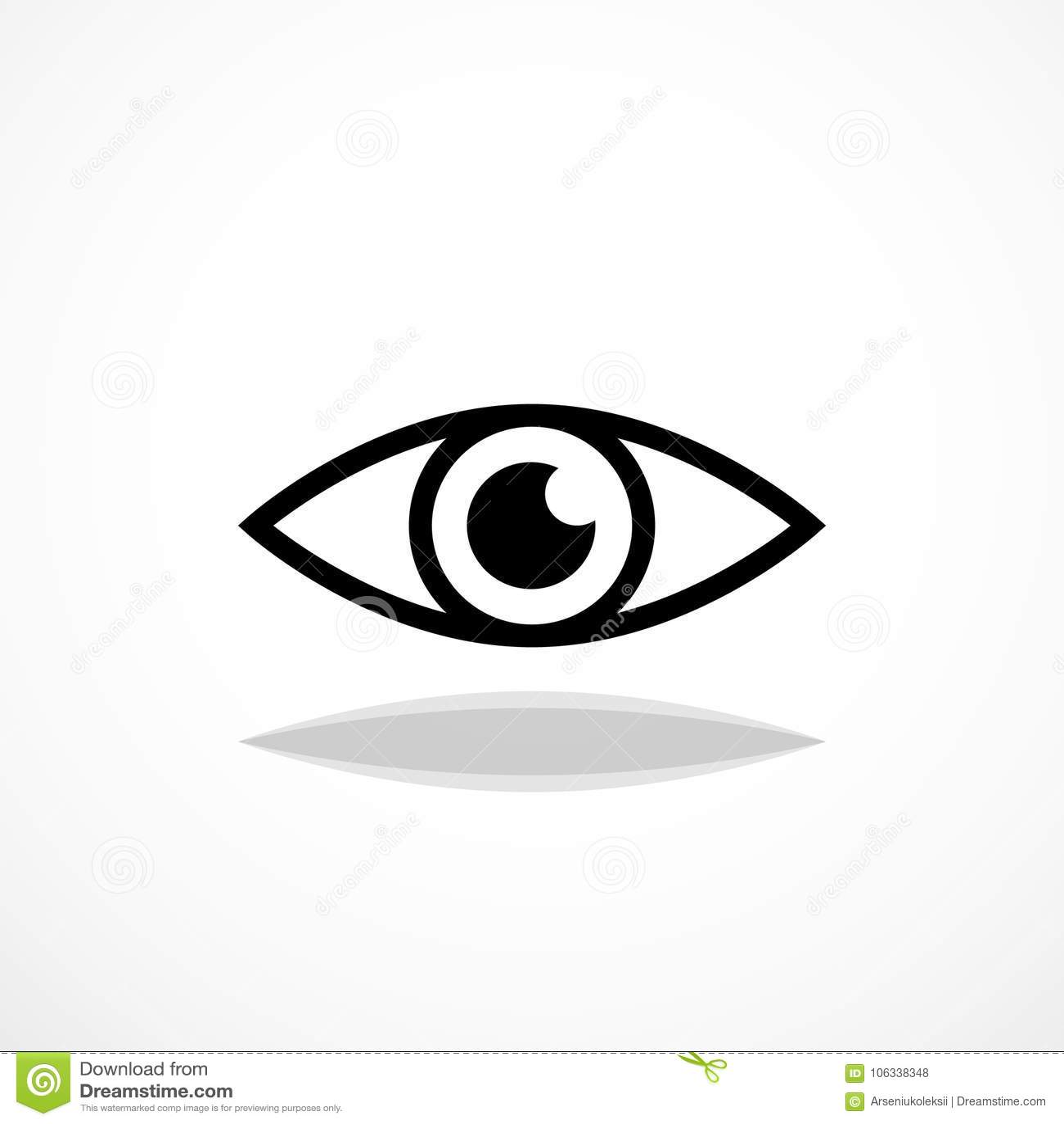ícone do olho simples