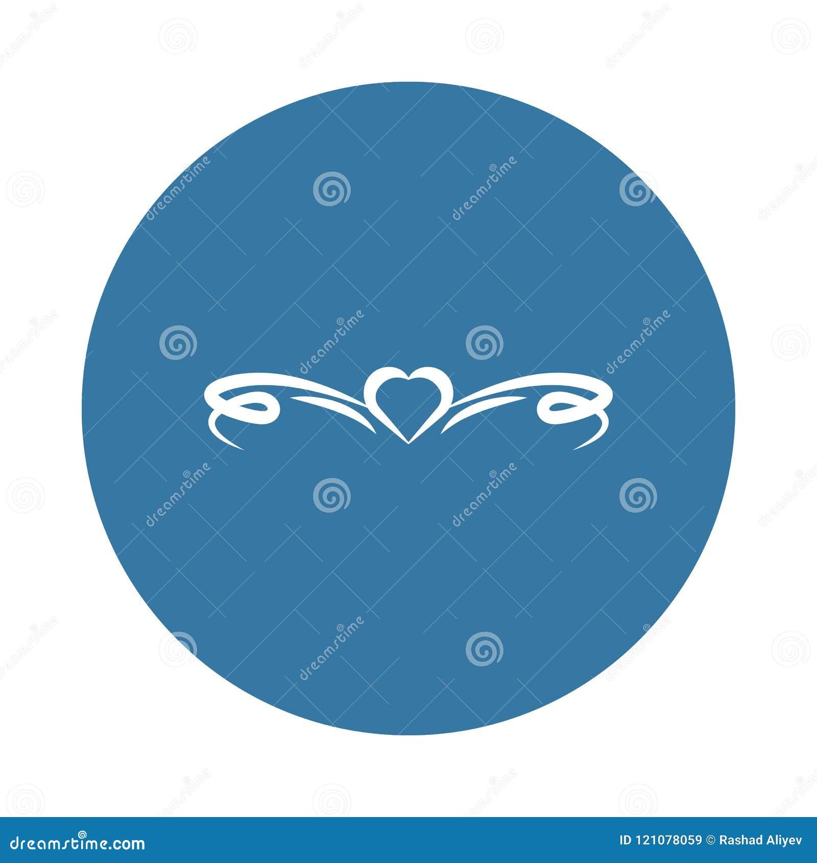 Ícone do ornamento do coração Elemento de ícones dos ornamento para apps móveis do conceito e da Web O ícone do ornamento do cora